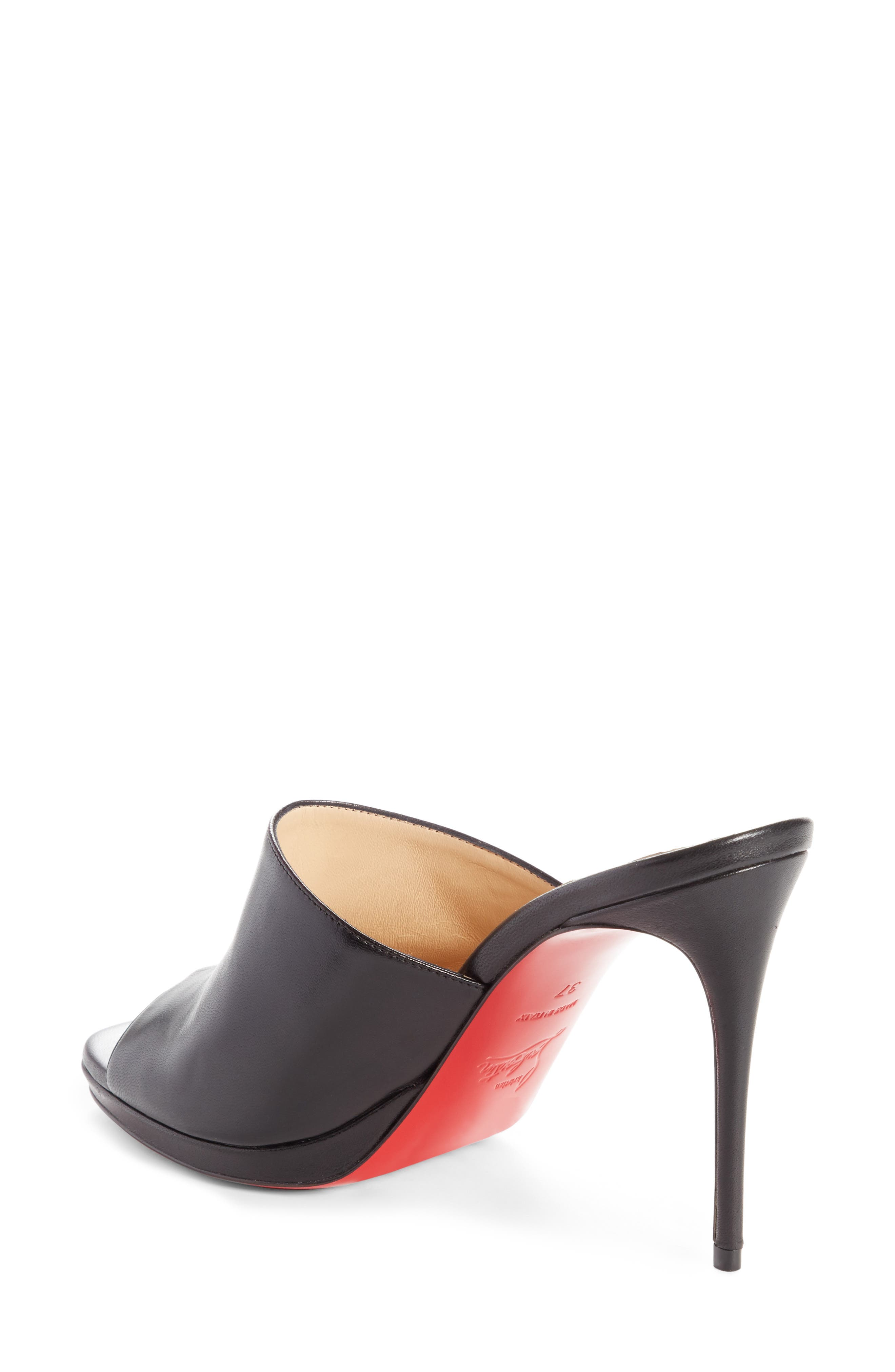 Pigamule Sandal,                             Alternate thumbnail 2, color,                             BLACK