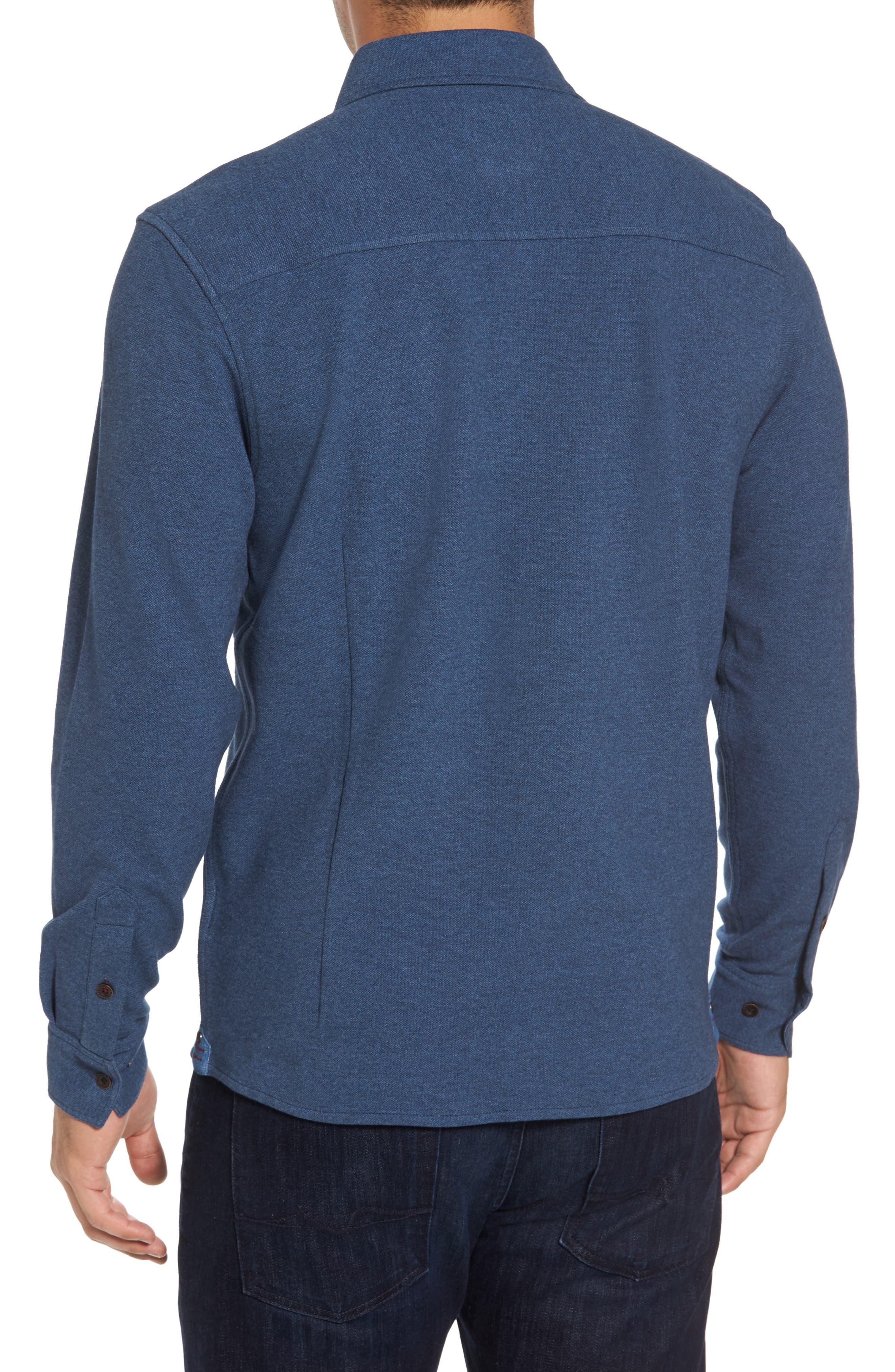 Shandy Heathered Knit Sport Shirt,                             Alternate thumbnail 4, color,