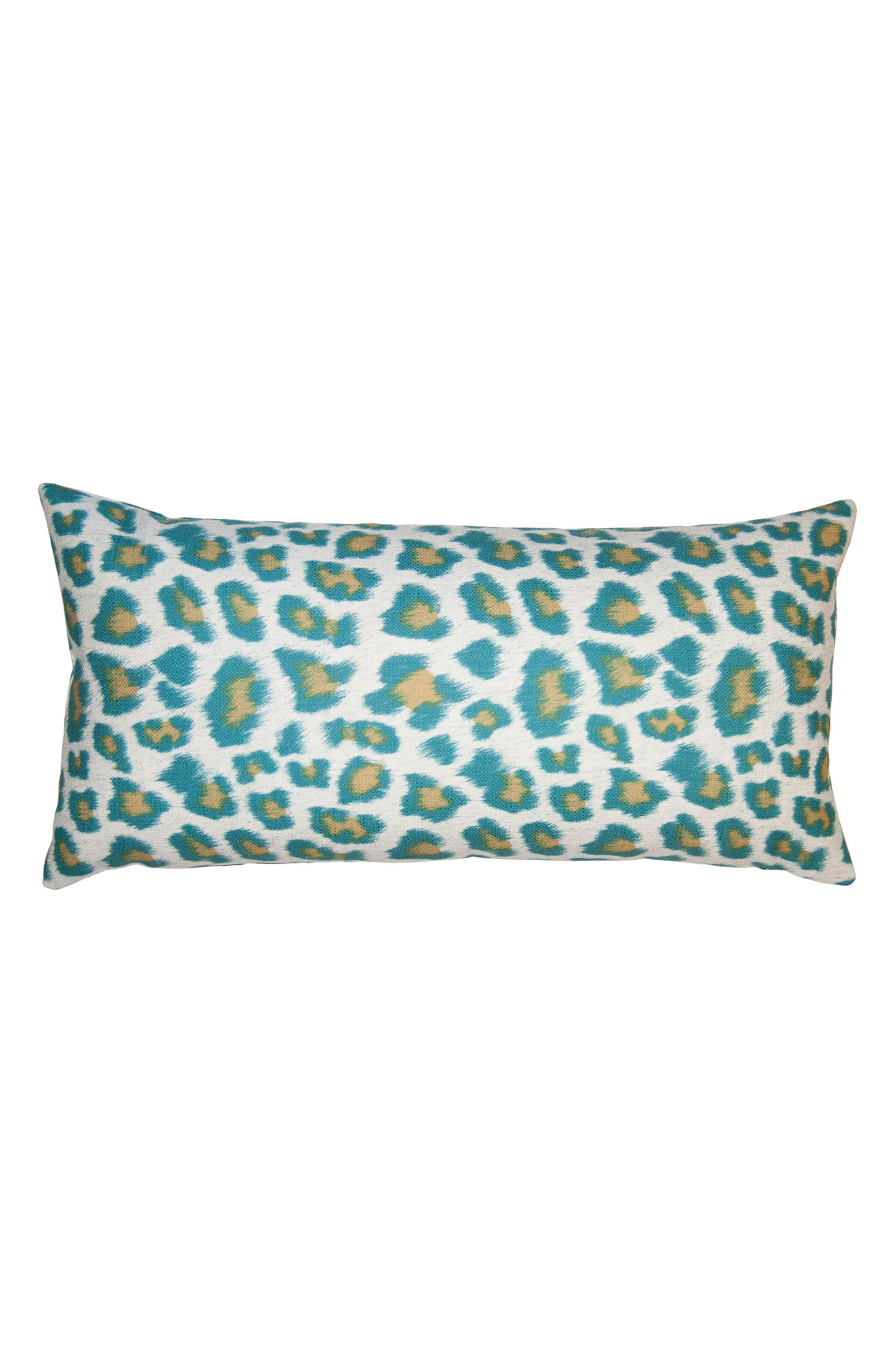 Riviera Cheetah Accent Pillow,                         Main,                         color, TEAL
