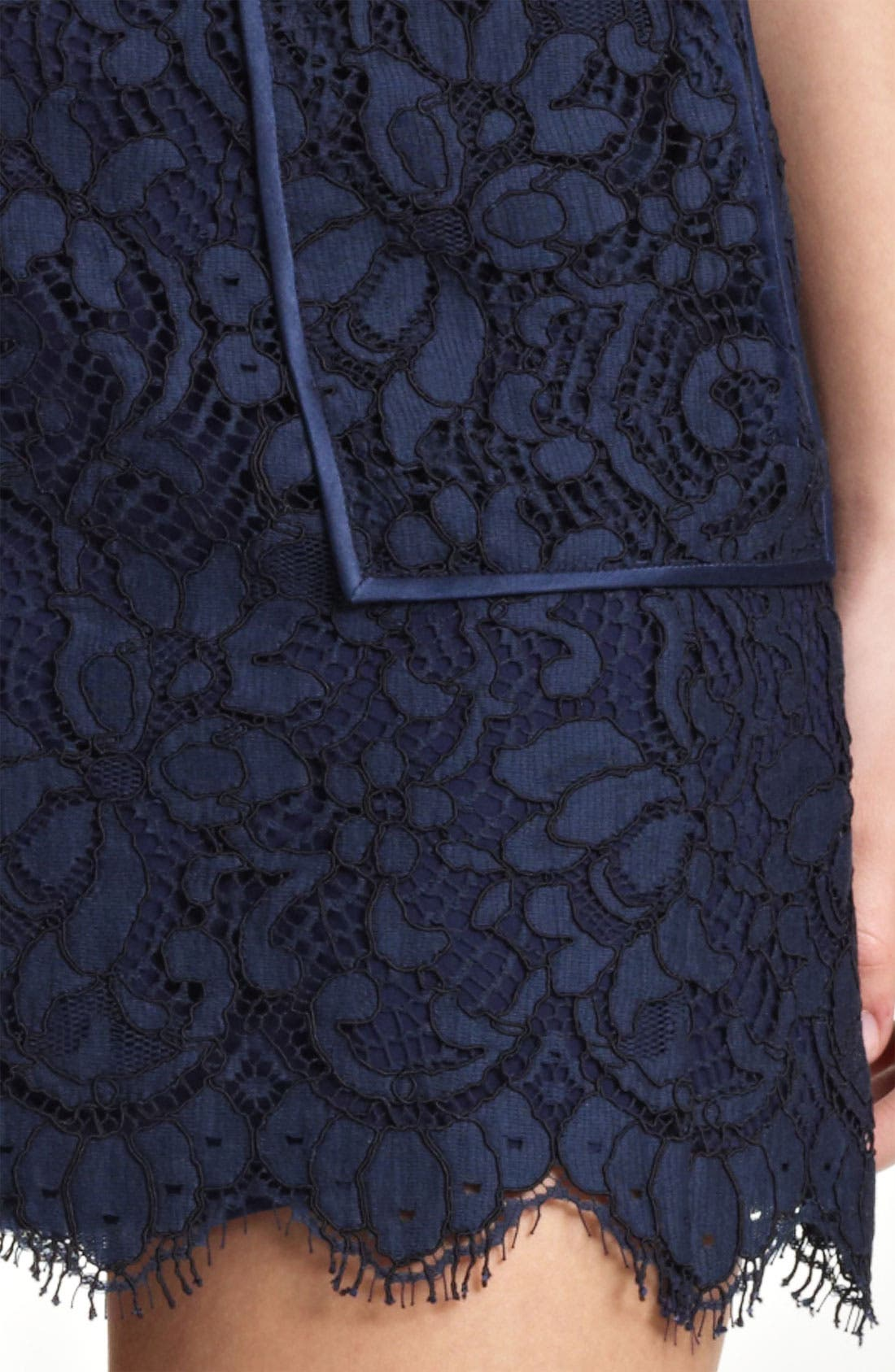 Patch Pocket Lace Skirt,                             Alternate thumbnail 4, color,                             410