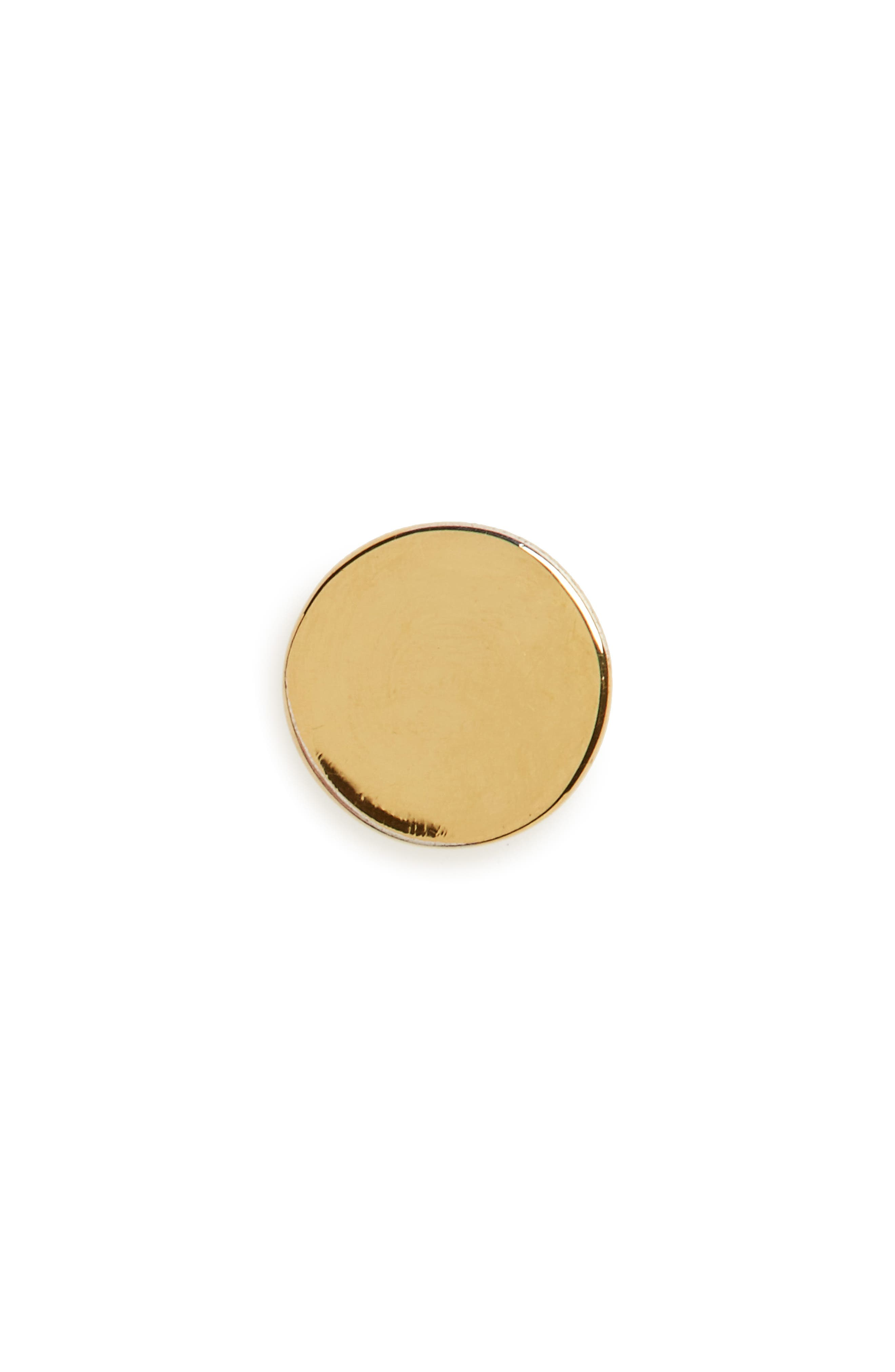 Circle Stud Earring,                         Main,                         color, GOLD