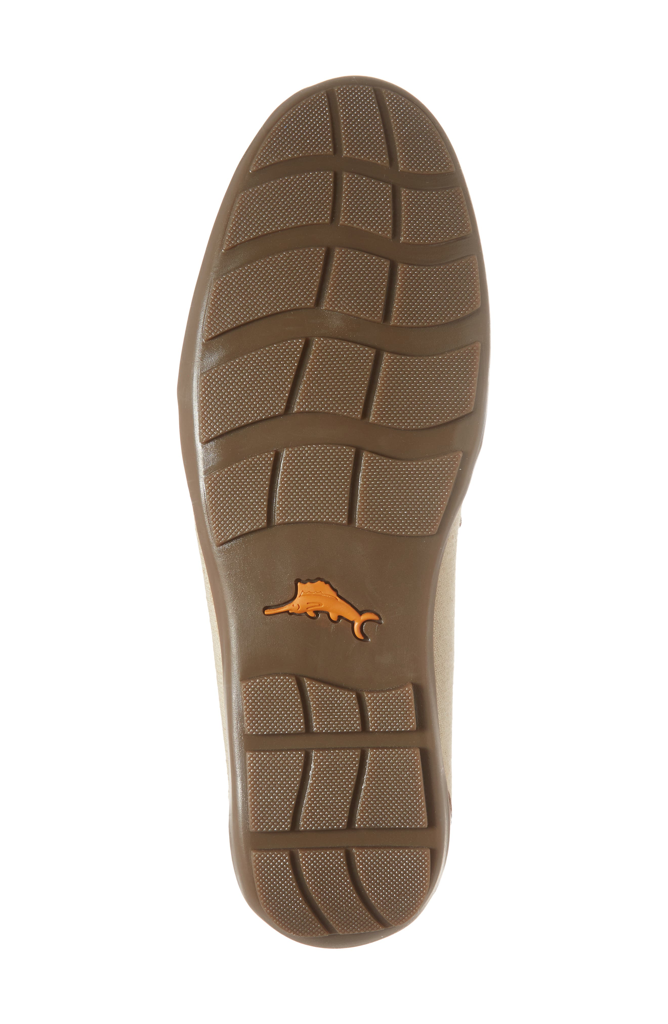 Taza Fronds Driving Shoe,                             Alternate thumbnail 6, color,                             BROWN/ NATURAL LEATHER/ LINEN