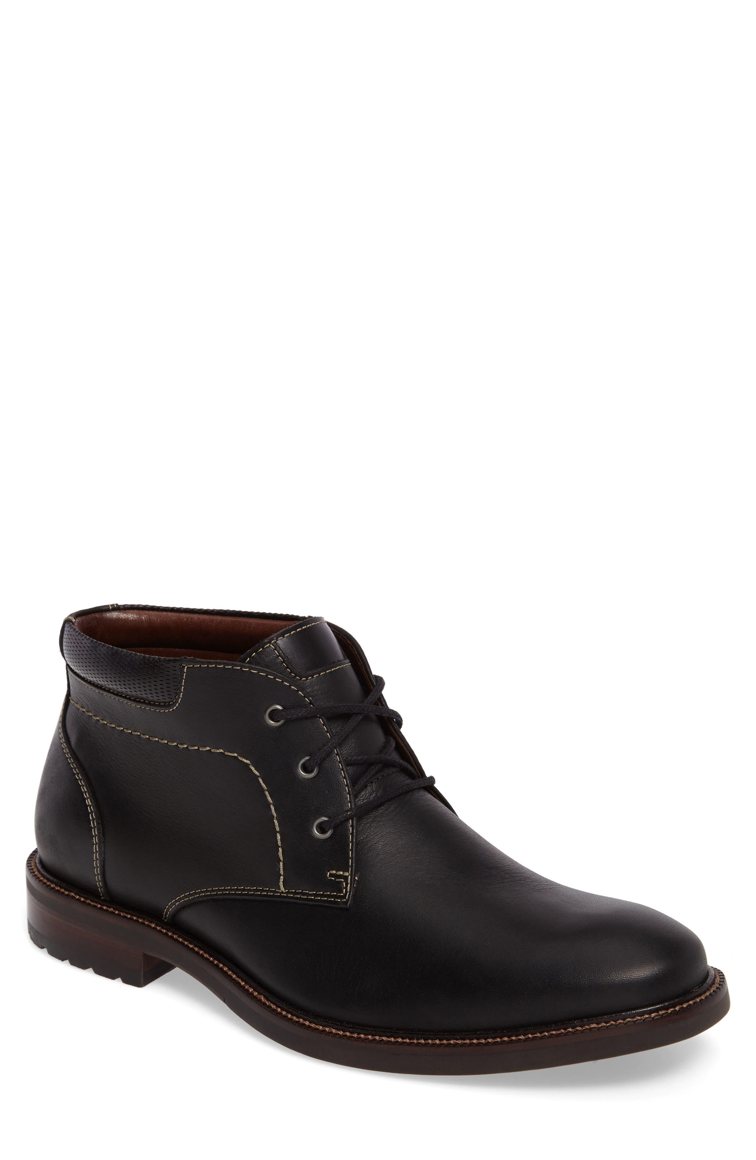 Baird Chukka Boot,                         Main,                         color, BLACK LEATHER