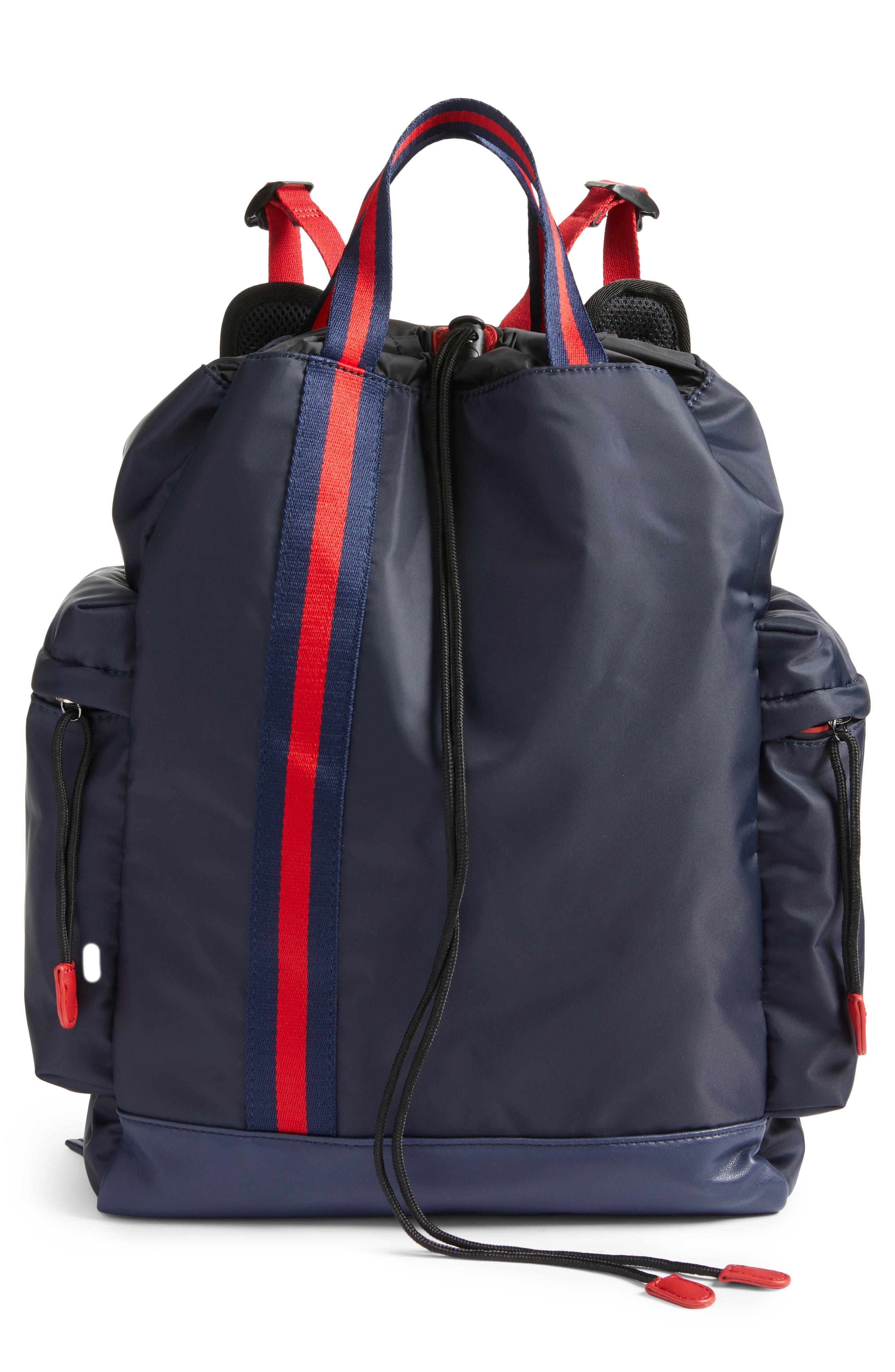 Like Dreams Yungg Stripe Strap Backpack - Blue