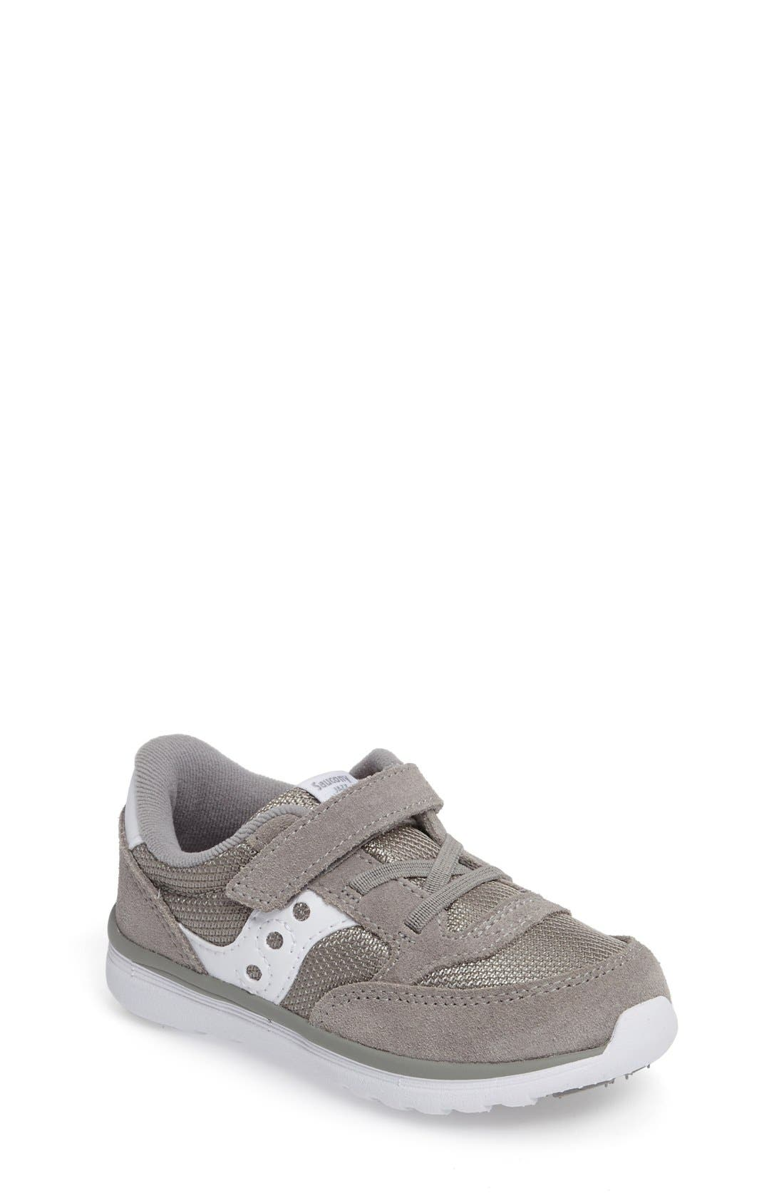 Jazz Lite Sneaker,                             Main thumbnail 1, color,                             GREY/ WHITE