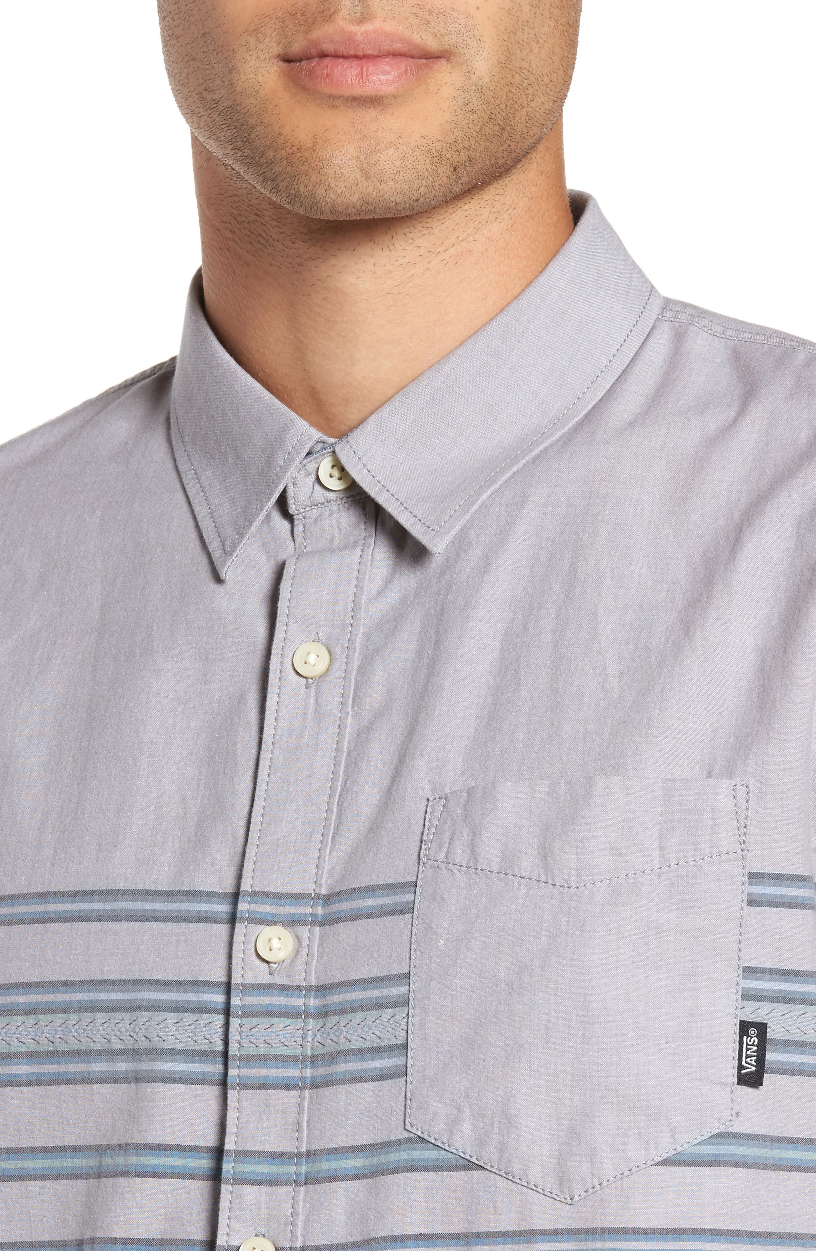 Benmore Striped Woven Shirt,                             Alternate thumbnail 4, color,                             021