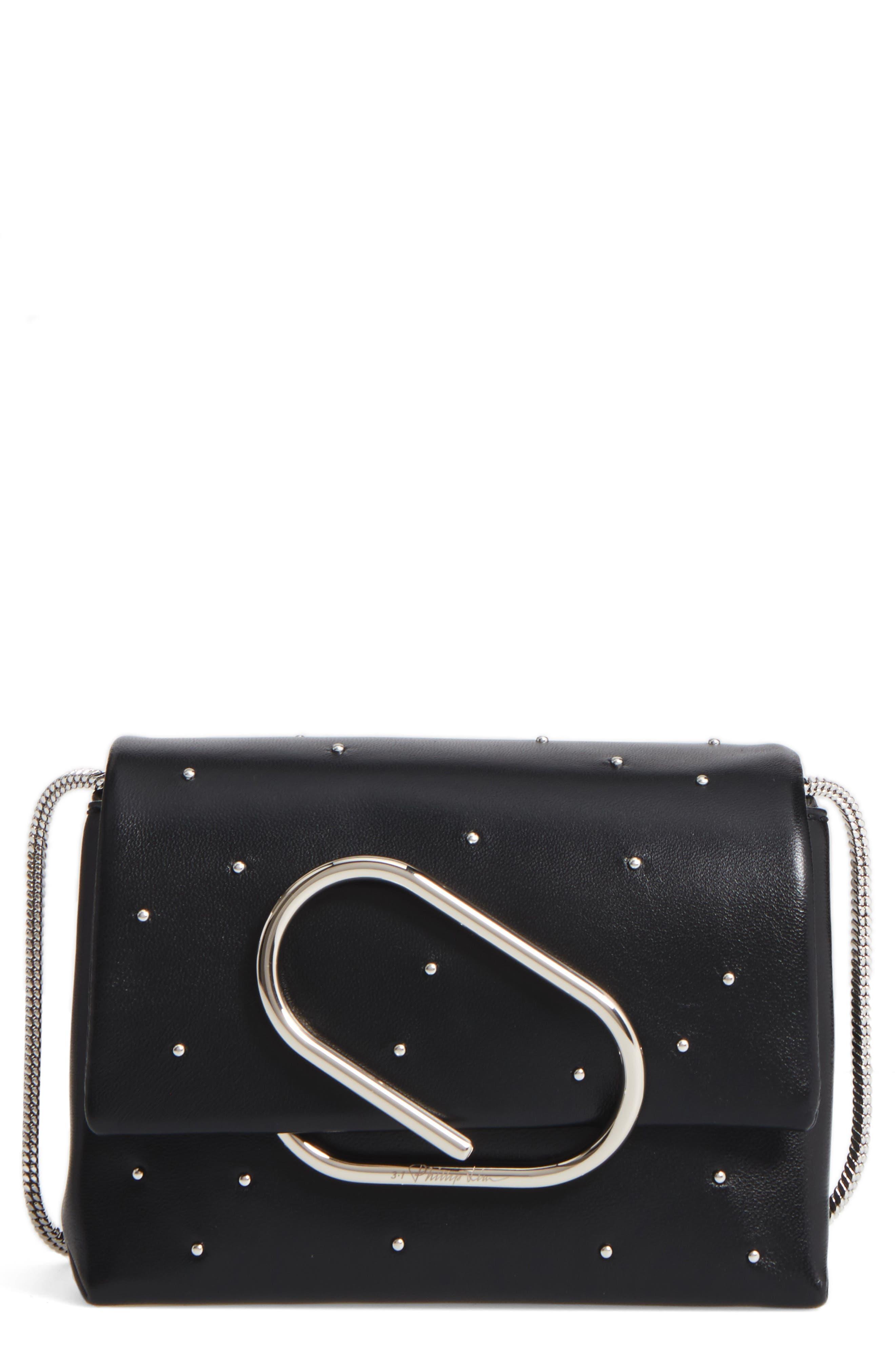 Micro Alix Leather Crossbody Bag,                             Main thumbnail 1, color,                             001
