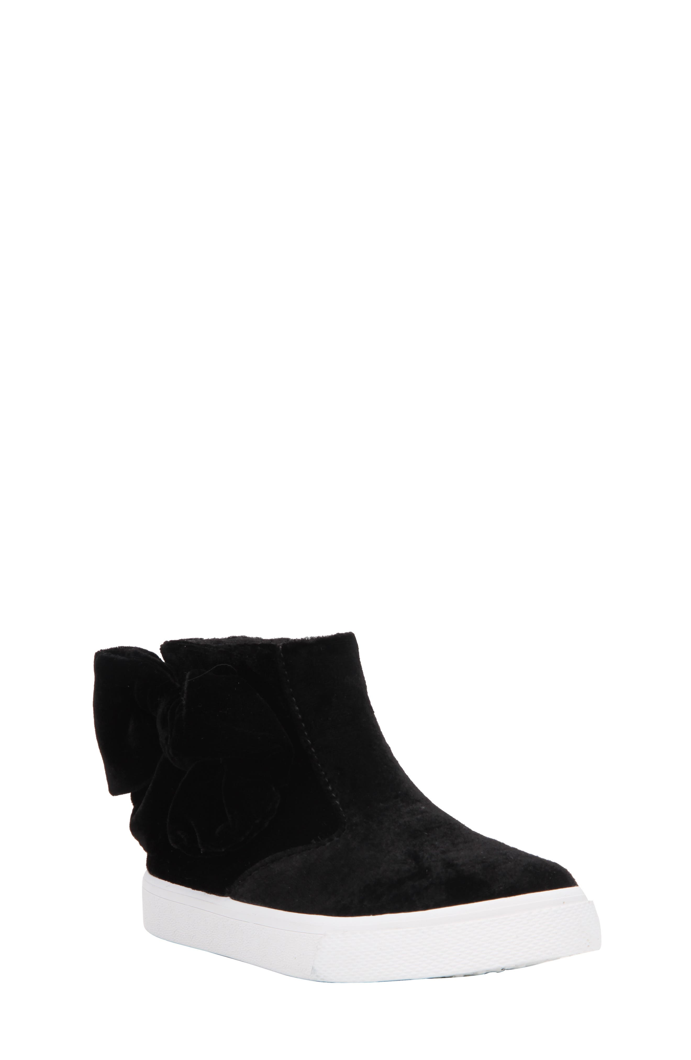 Harolyn Bow Bootie Sneaker,                             Main thumbnail 1, color,                             005