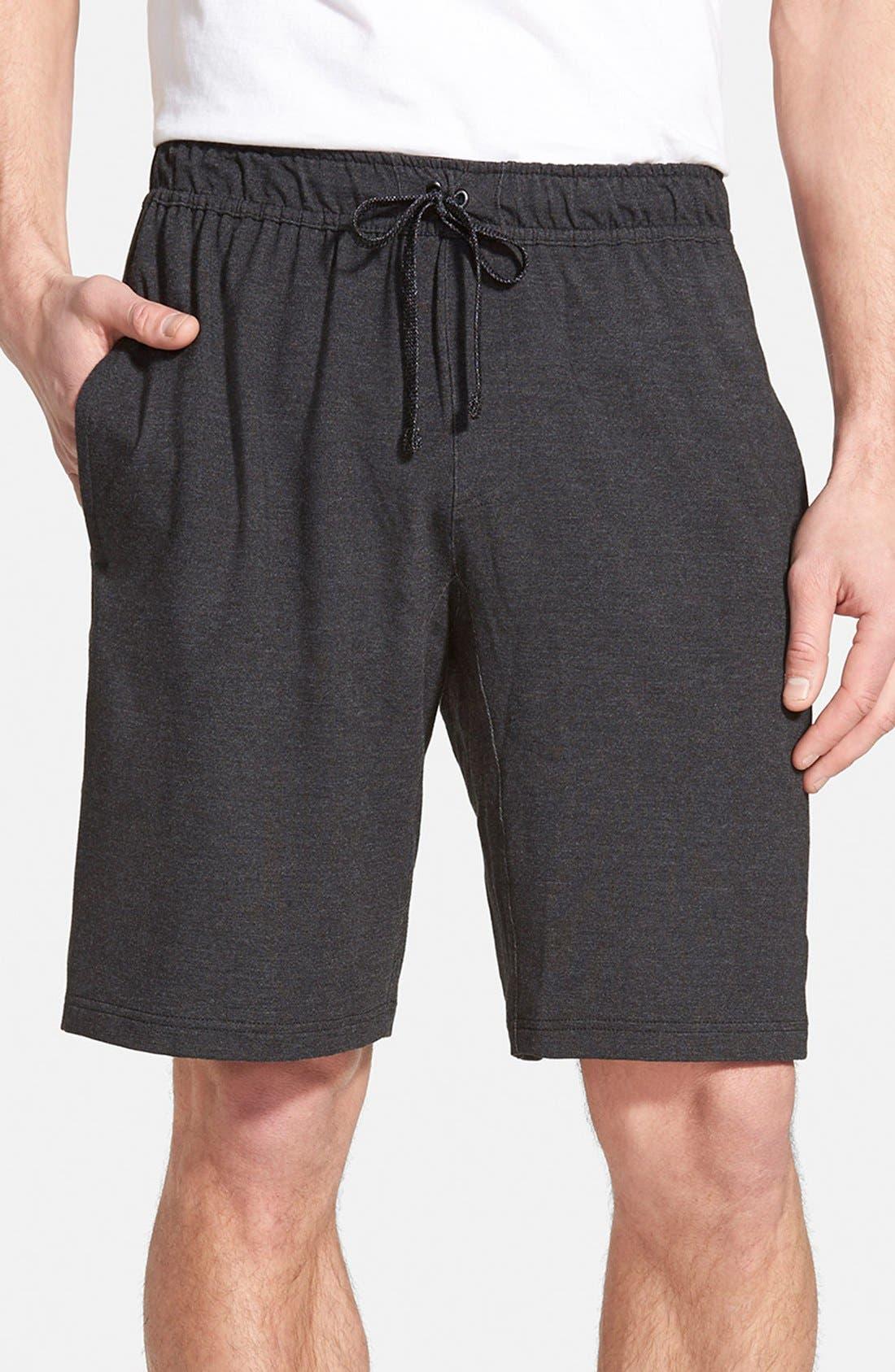 NIKE,                             Dri-FIT Touch Fleece Shorts,                             Main thumbnail 1, color,                             010