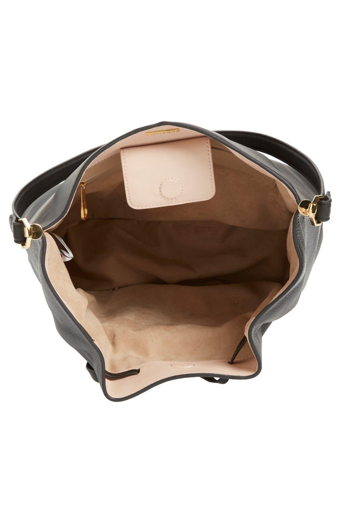 'Large Lucie' Bucket Bag,                             Main thumbnail 1, color,                             001