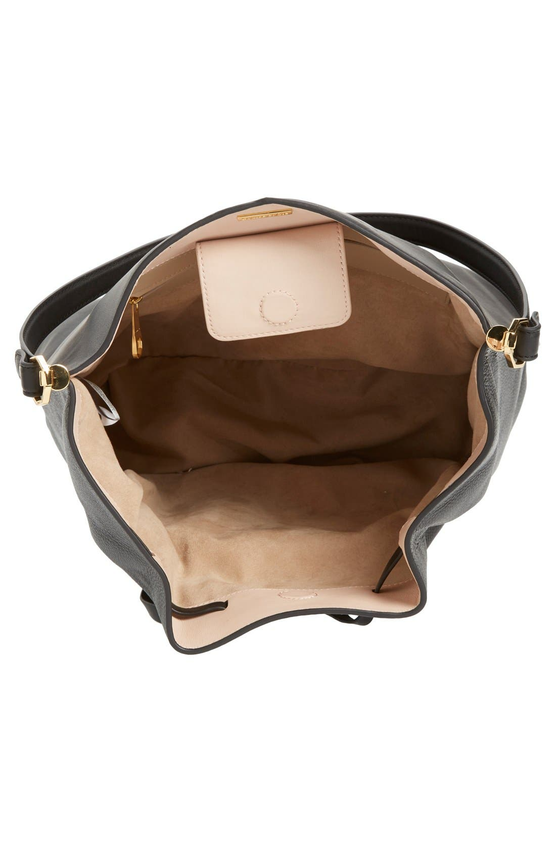'Large Lucie' Bucket Bag, Main, color, 001