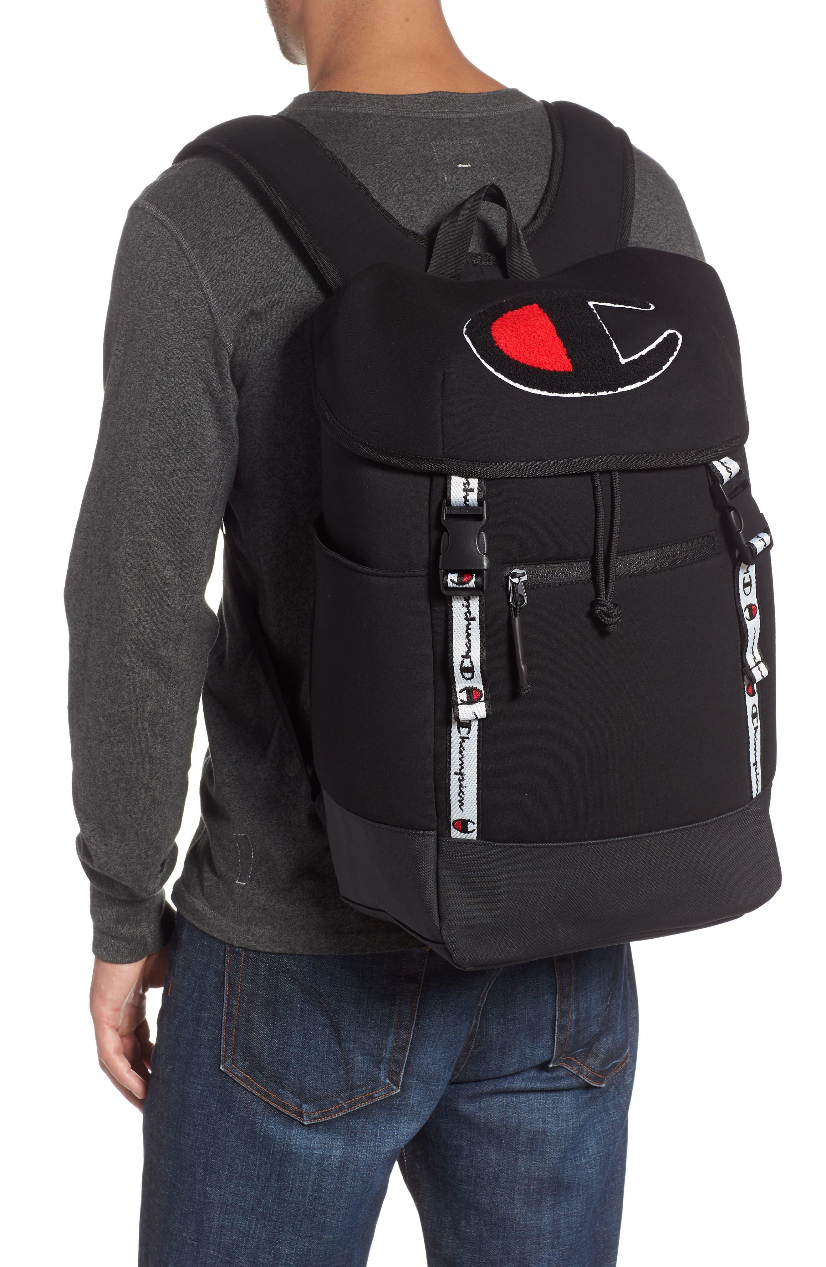 Top Load Backpack,                             Alternate thumbnail 2, color,                             BLACK