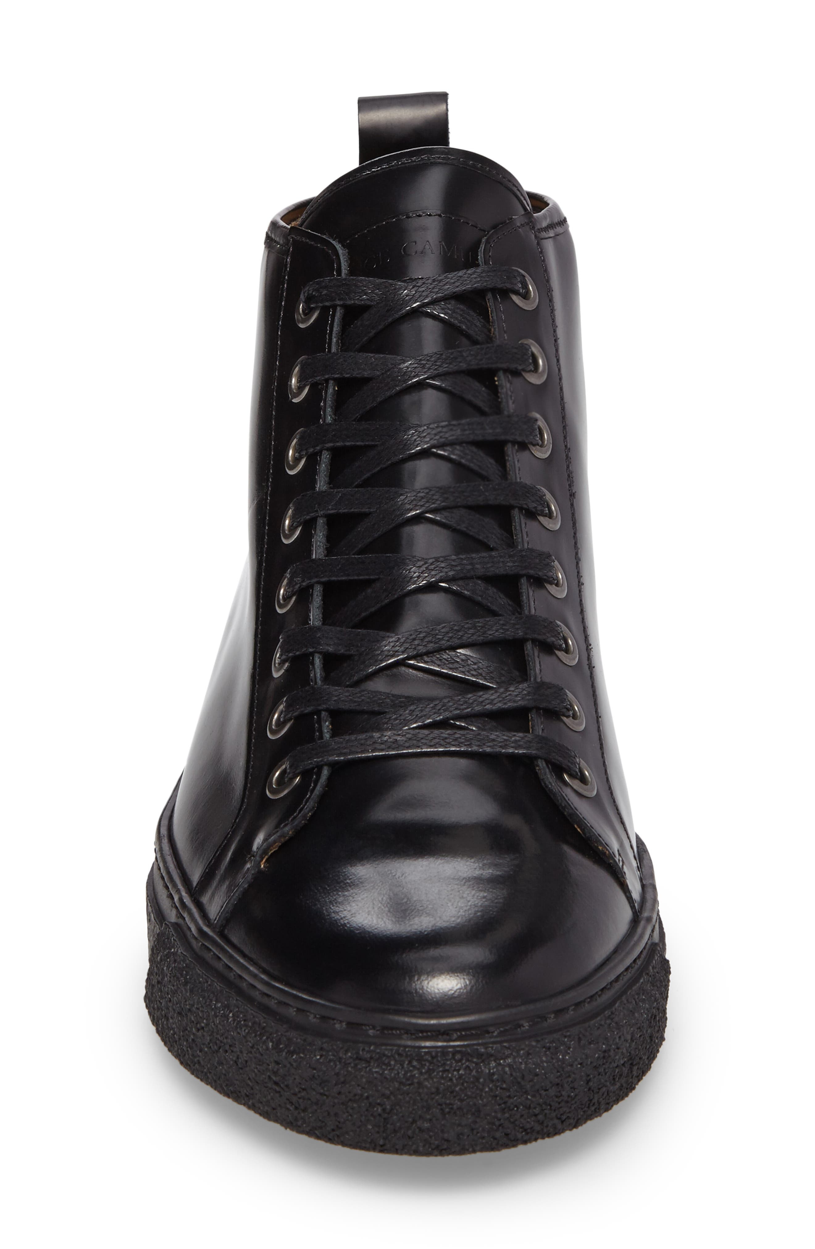 Westan Sneaker,                             Alternate thumbnail 4, color,                             BLACK LEATHER