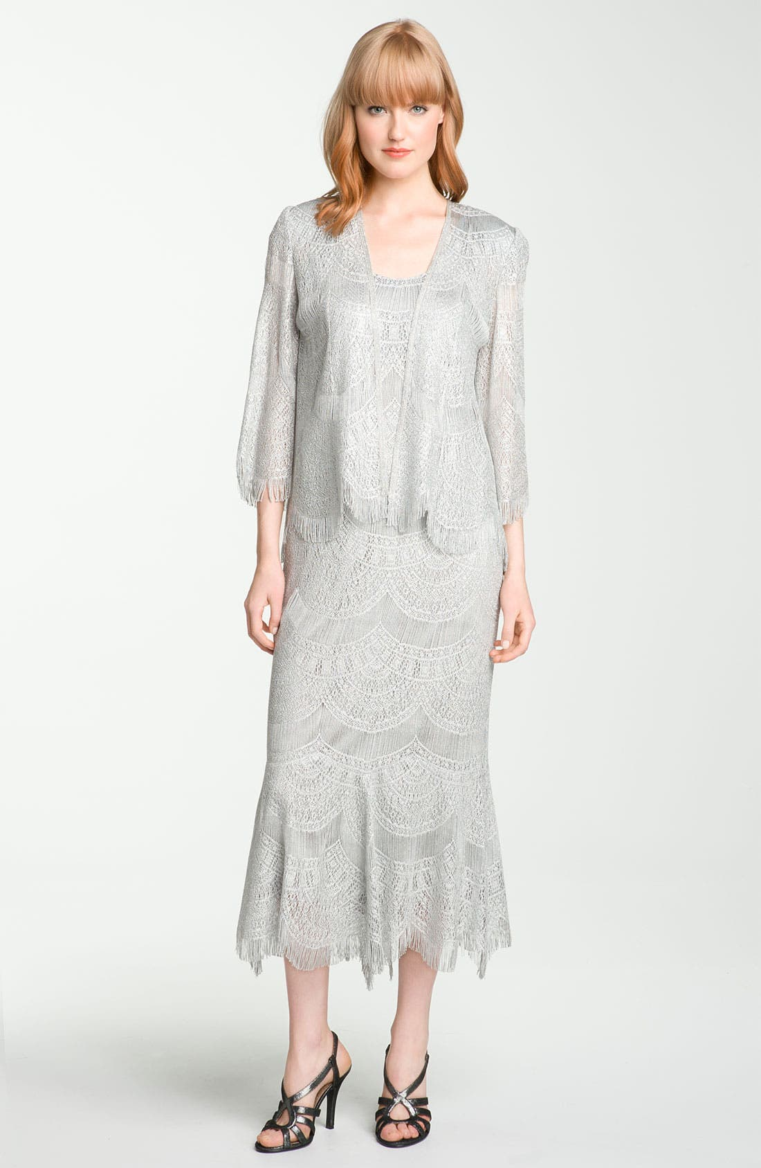 Lace Dress & Jacket,                             Alternate thumbnail 4, color,                             040