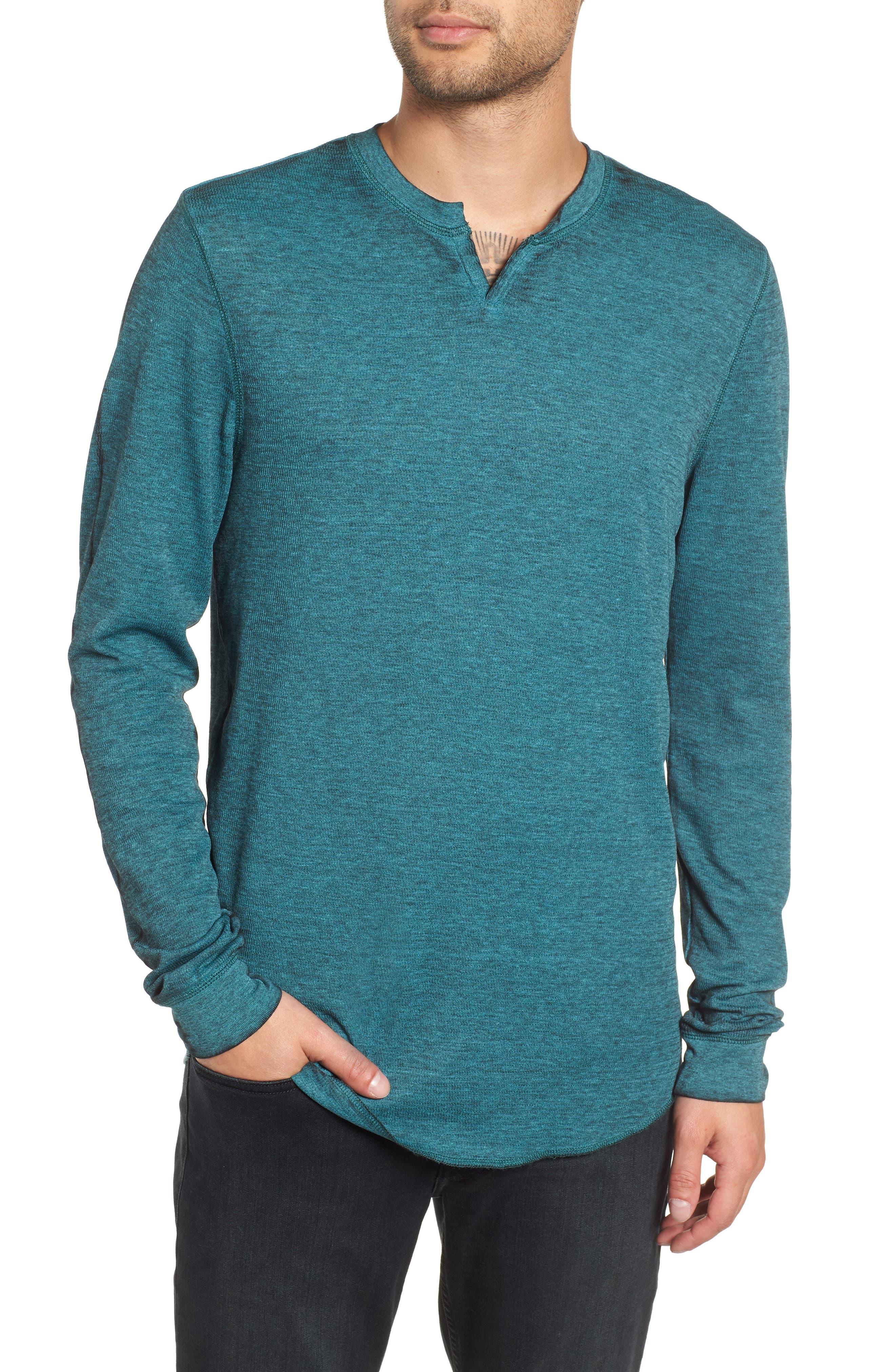 Notch Neck Thermal T-Shirt,                             Main thumbnail 6, color,