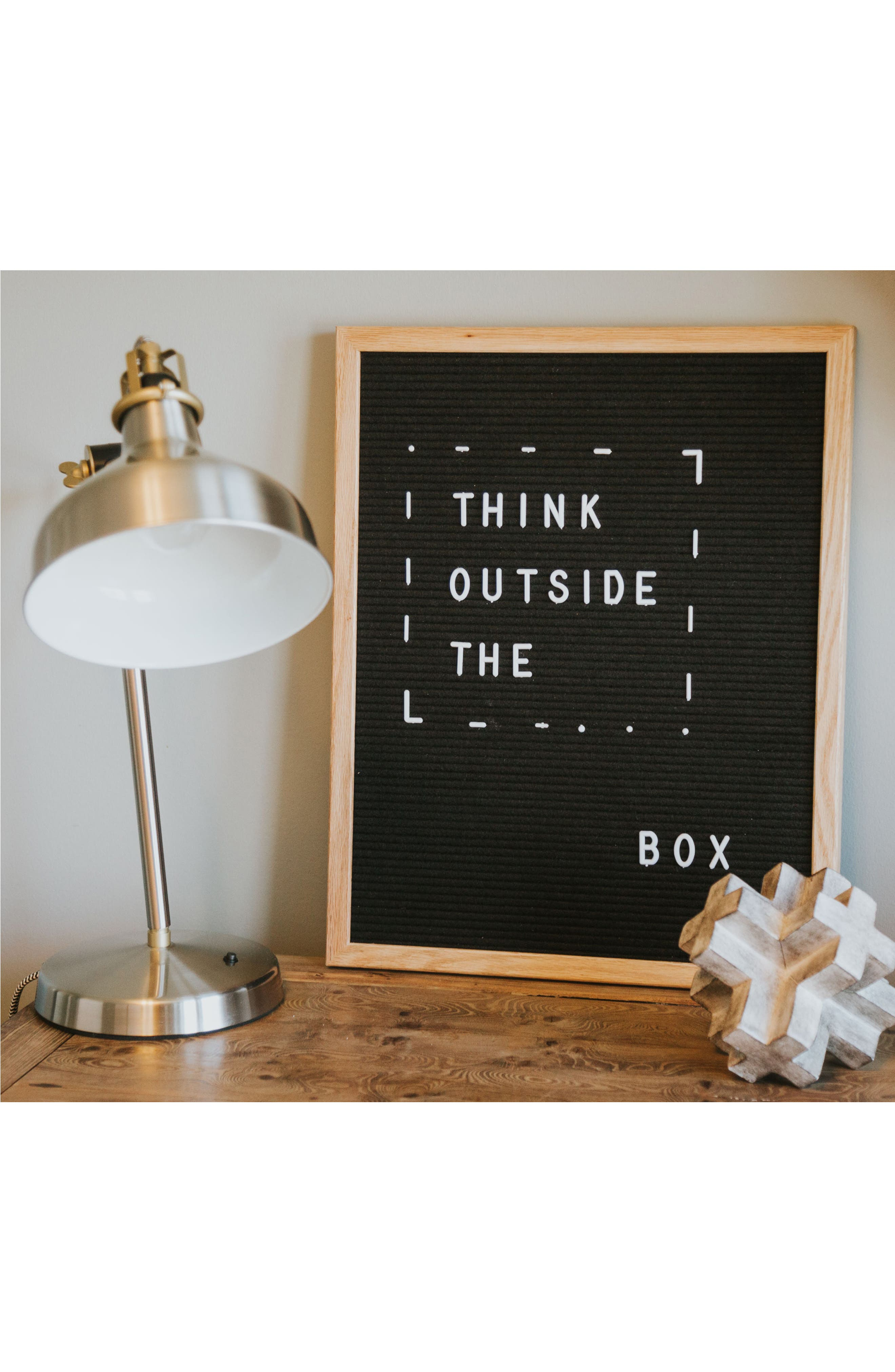 The Chit Chat Letterboard,                             Alternate thumbnail 5, color,                             BLACK