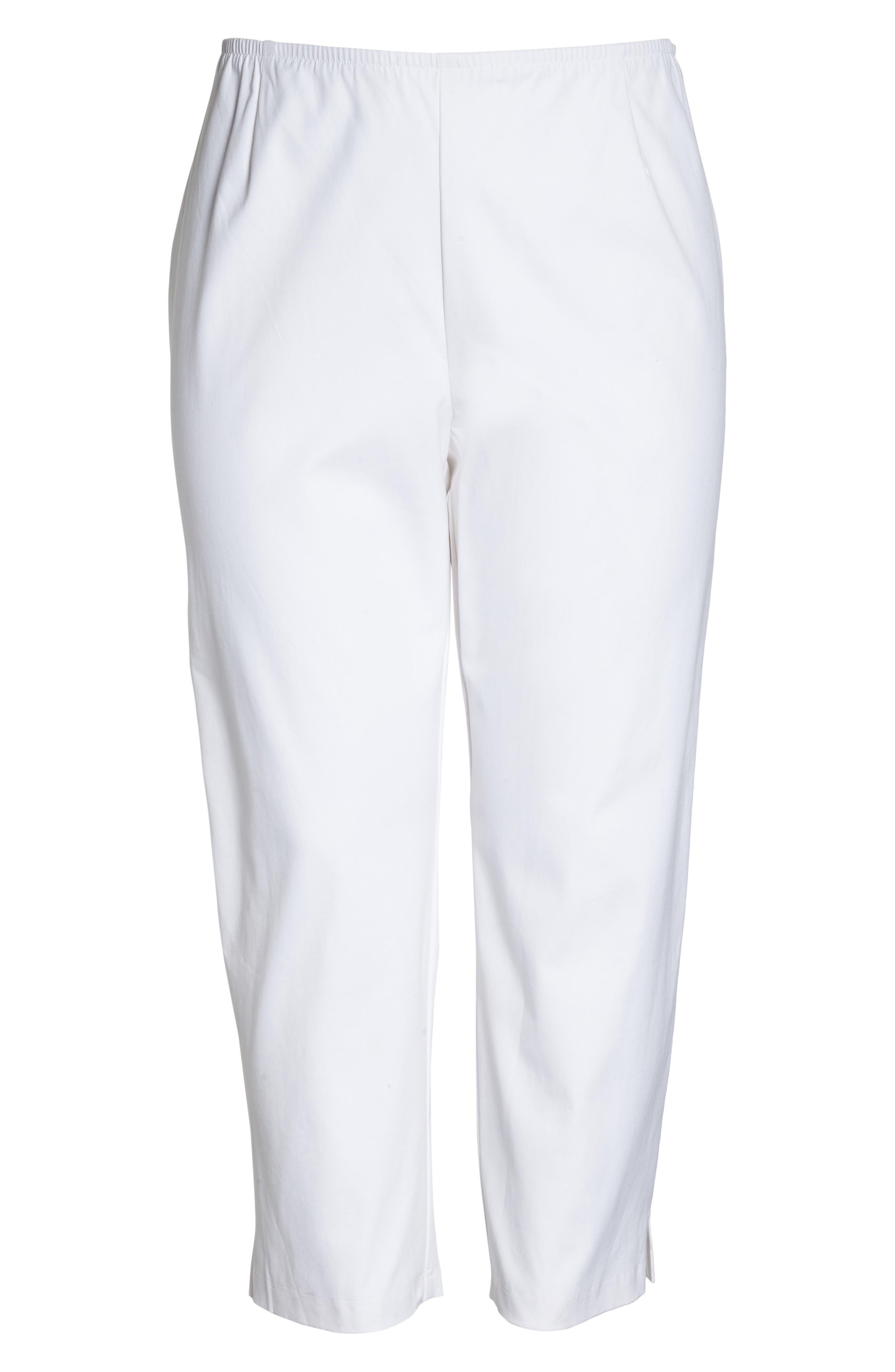Stretch Organic Cotton Ankle Pants,                             Alternate thumbnail 2, color,                             100