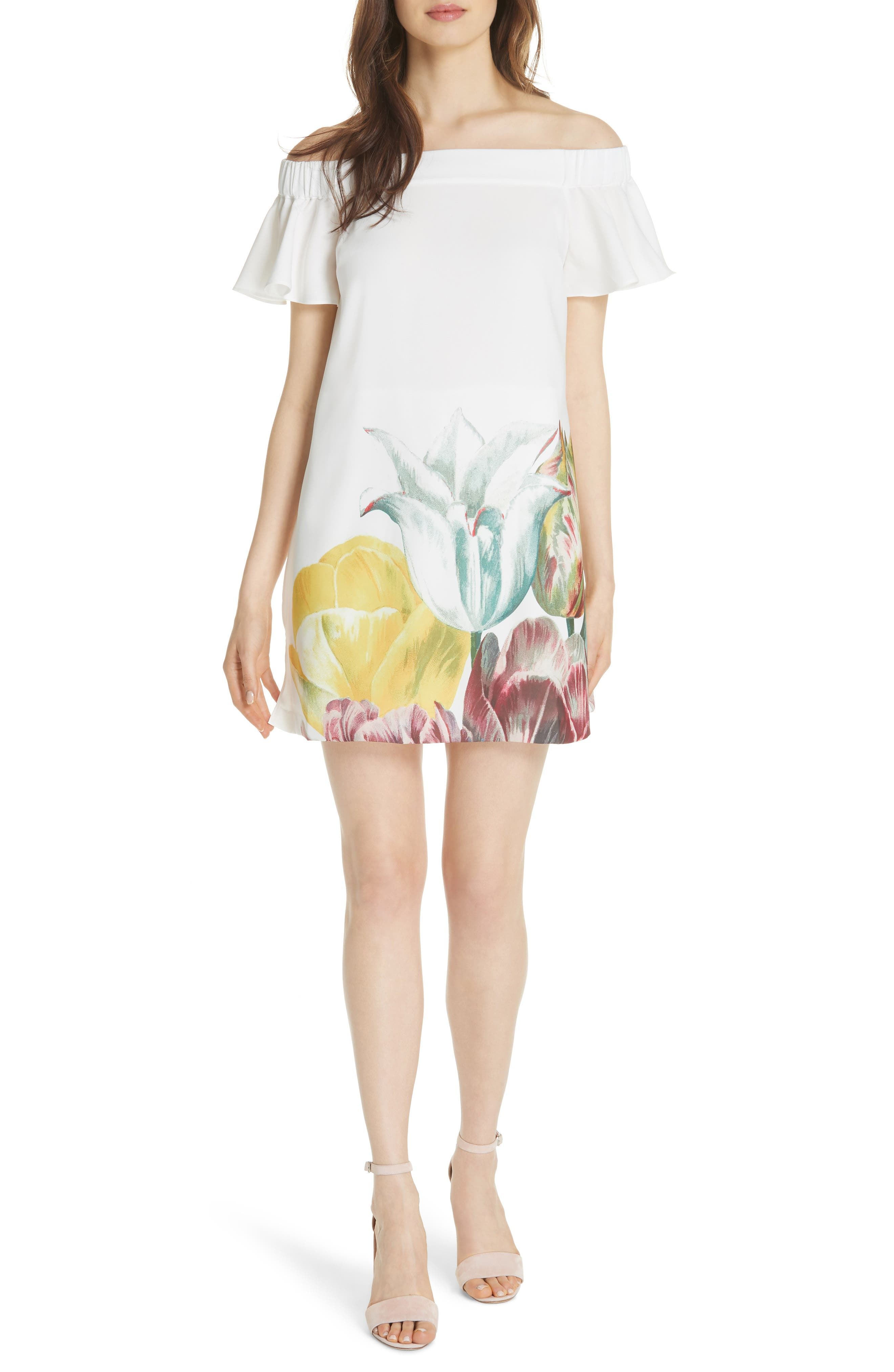 Nayylee Tranquility Romper,                         Main,                         color, WHITE