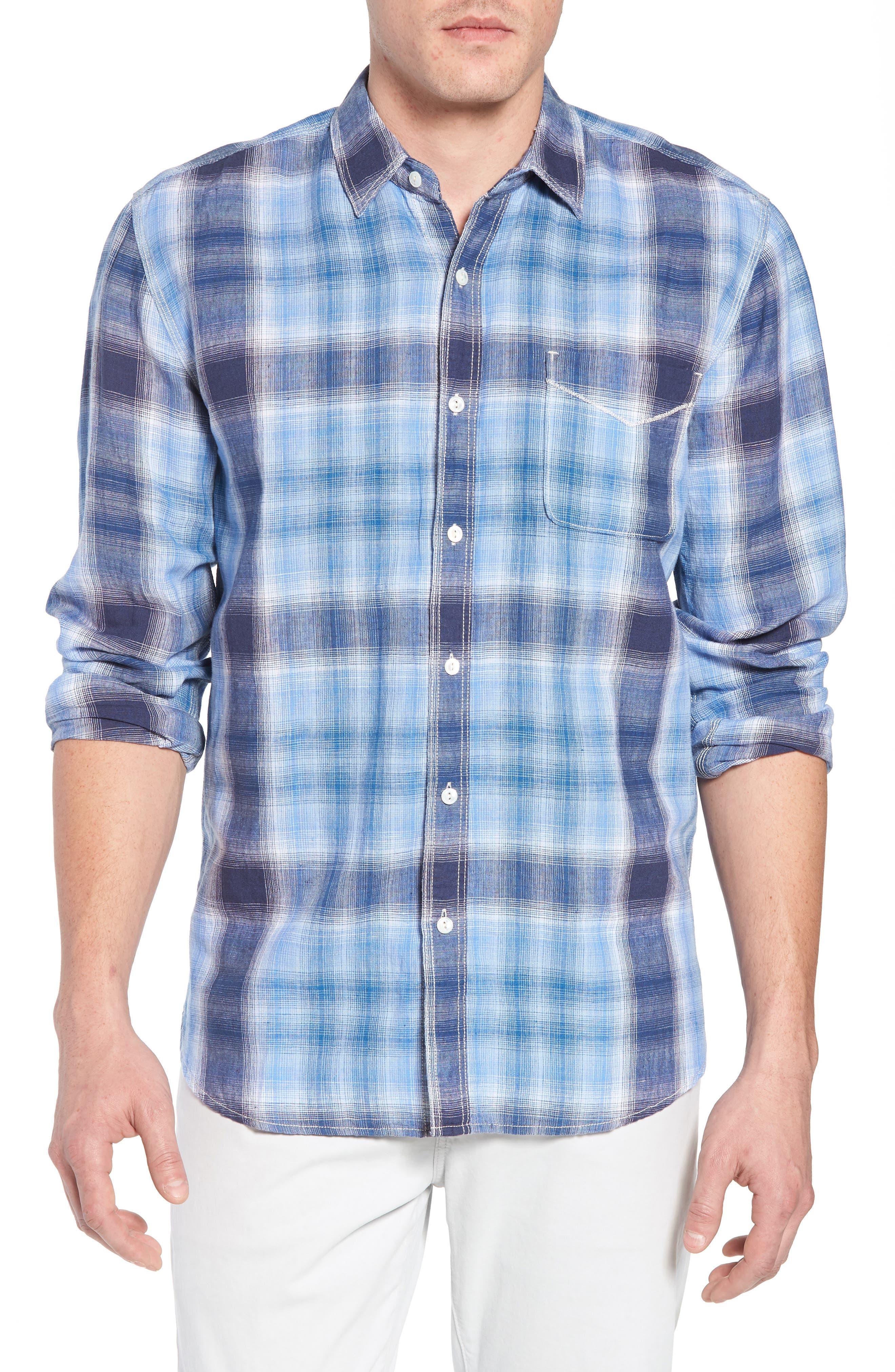 Trestles Linen & Cotton Sport Shirt,                             Main thumbnail 1, color,
