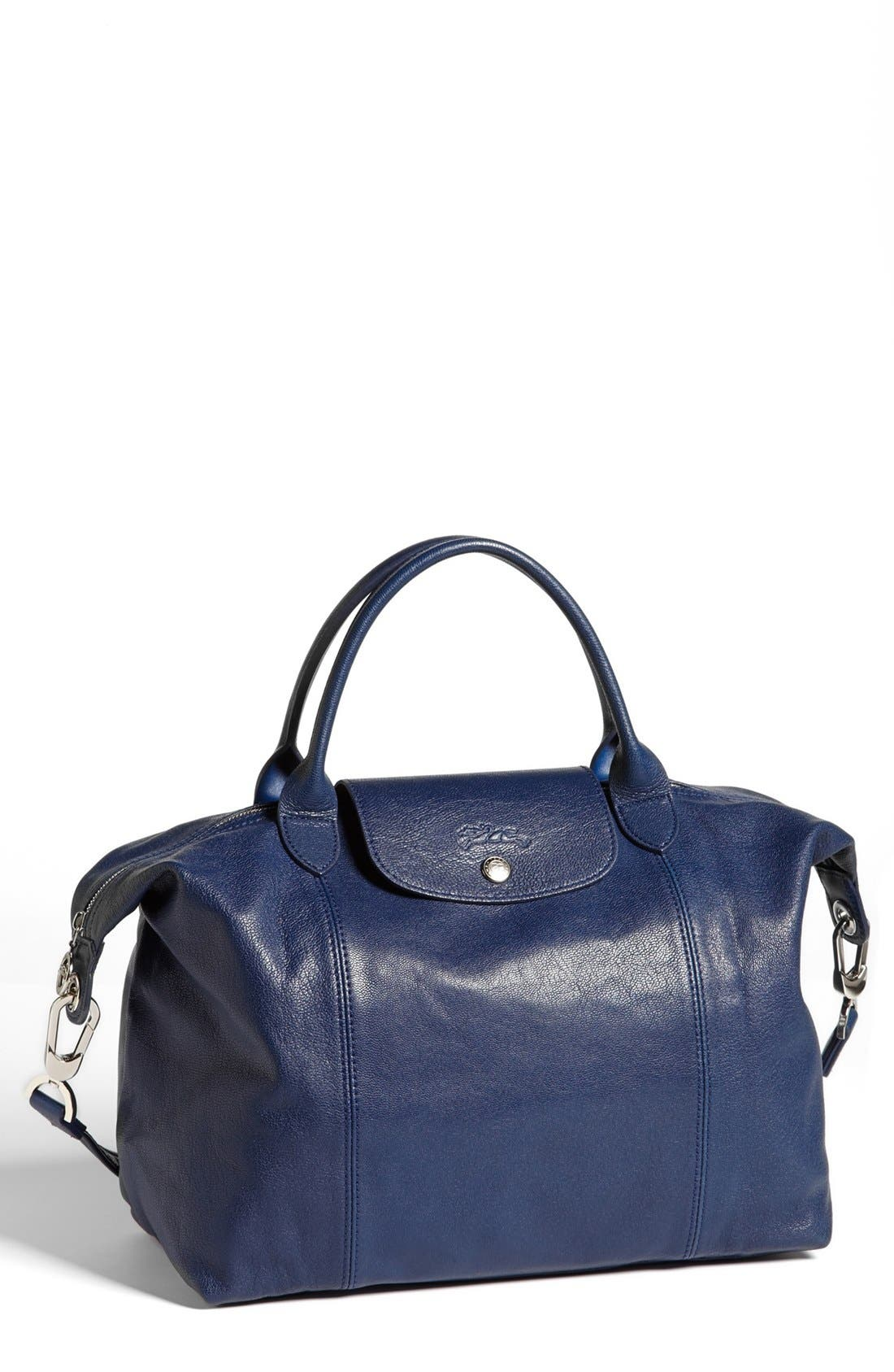 Medium 'Le Pliage Cuir' Leather Top Handle Tote,                             Main thumbnail 15, color,