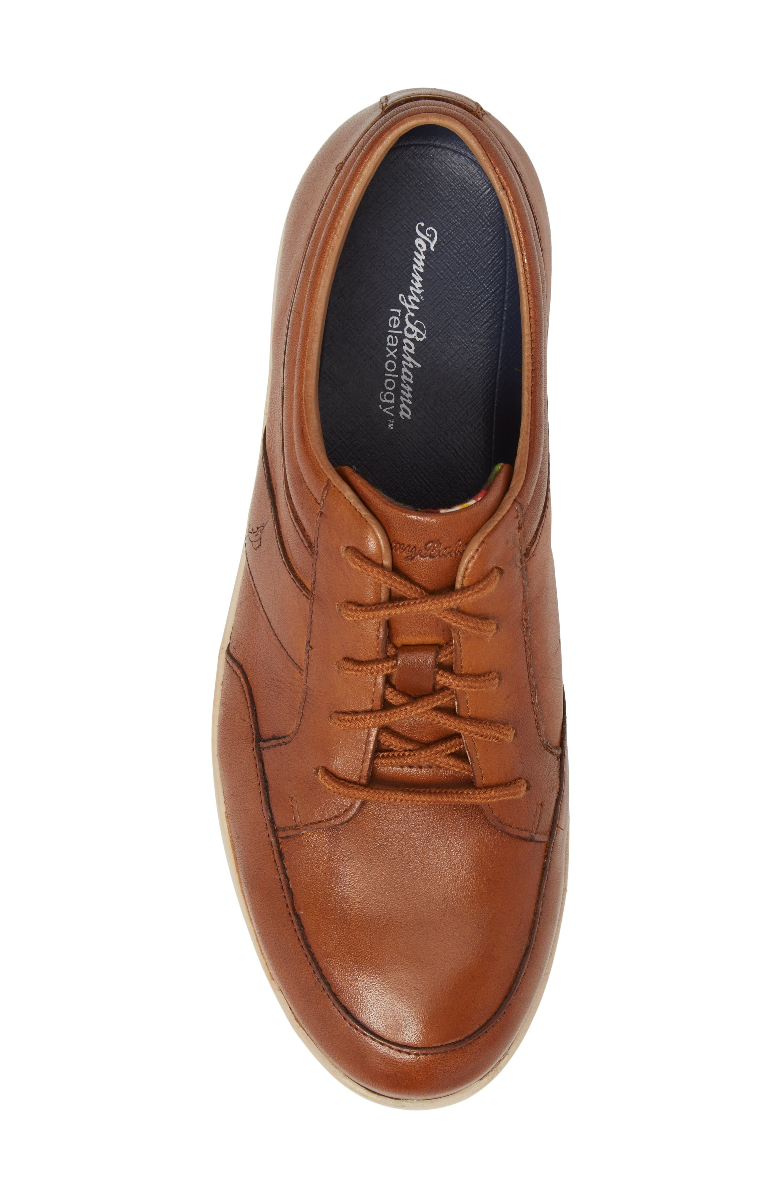 Caicos Authentic Low Top Sneaker,                             Alternate thumbnail 5, color,                             TAN LEATHER
