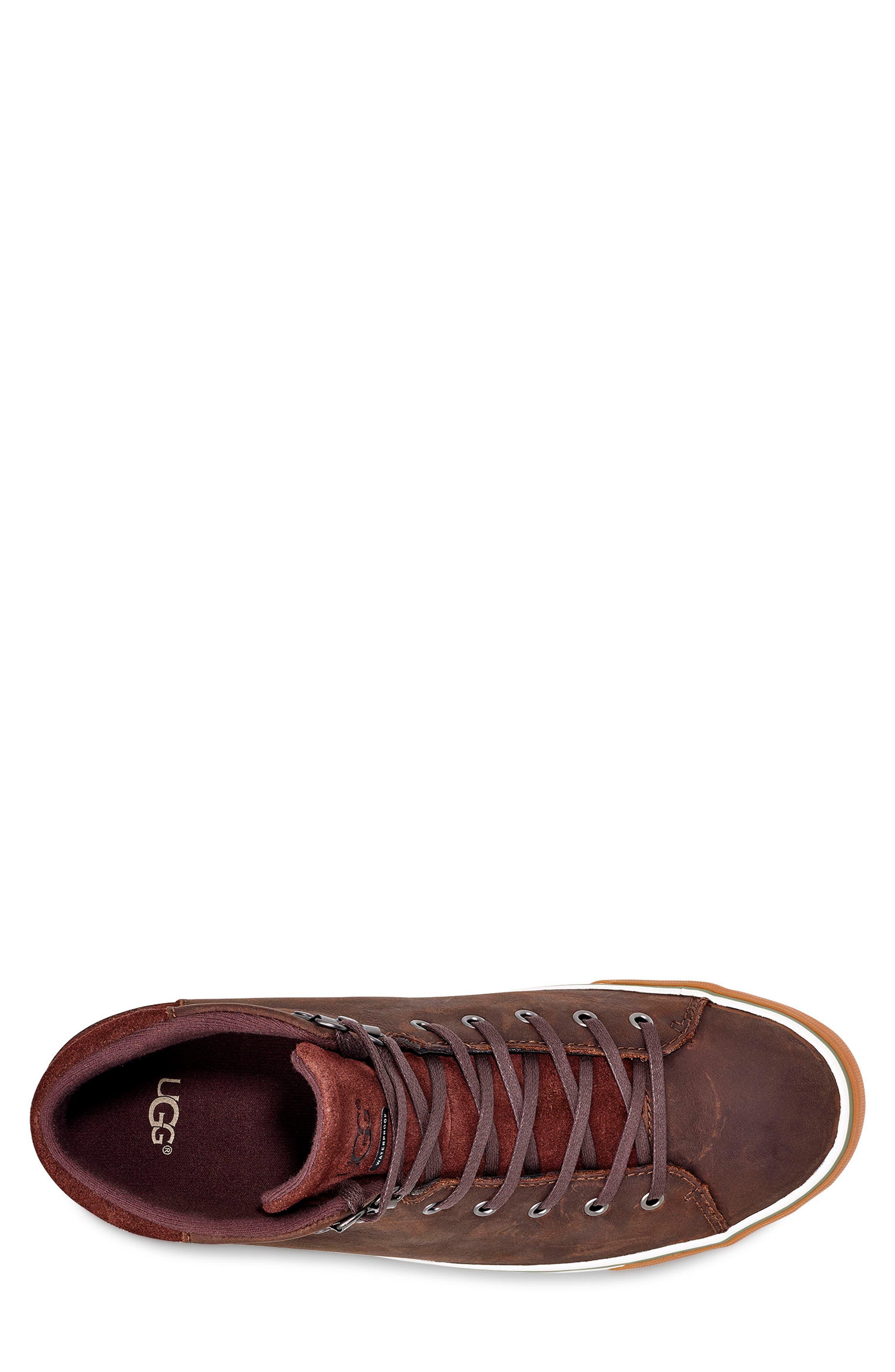 Hoyt II Waterproof Sneaker,                             Alternate thumbnail 4, color,                             GRIZZLY