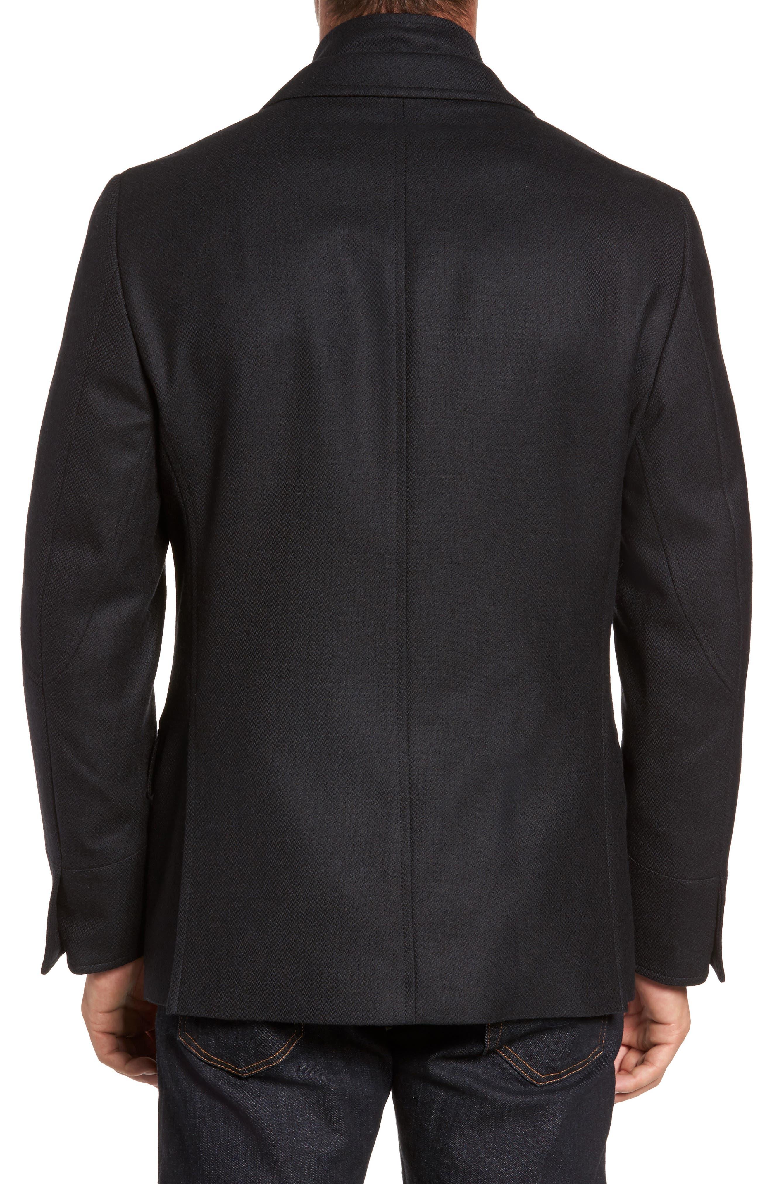 Classic Fit Wool & Cashmere Hybrid Coat,                             Alternate thumbnail 2, color,                             001