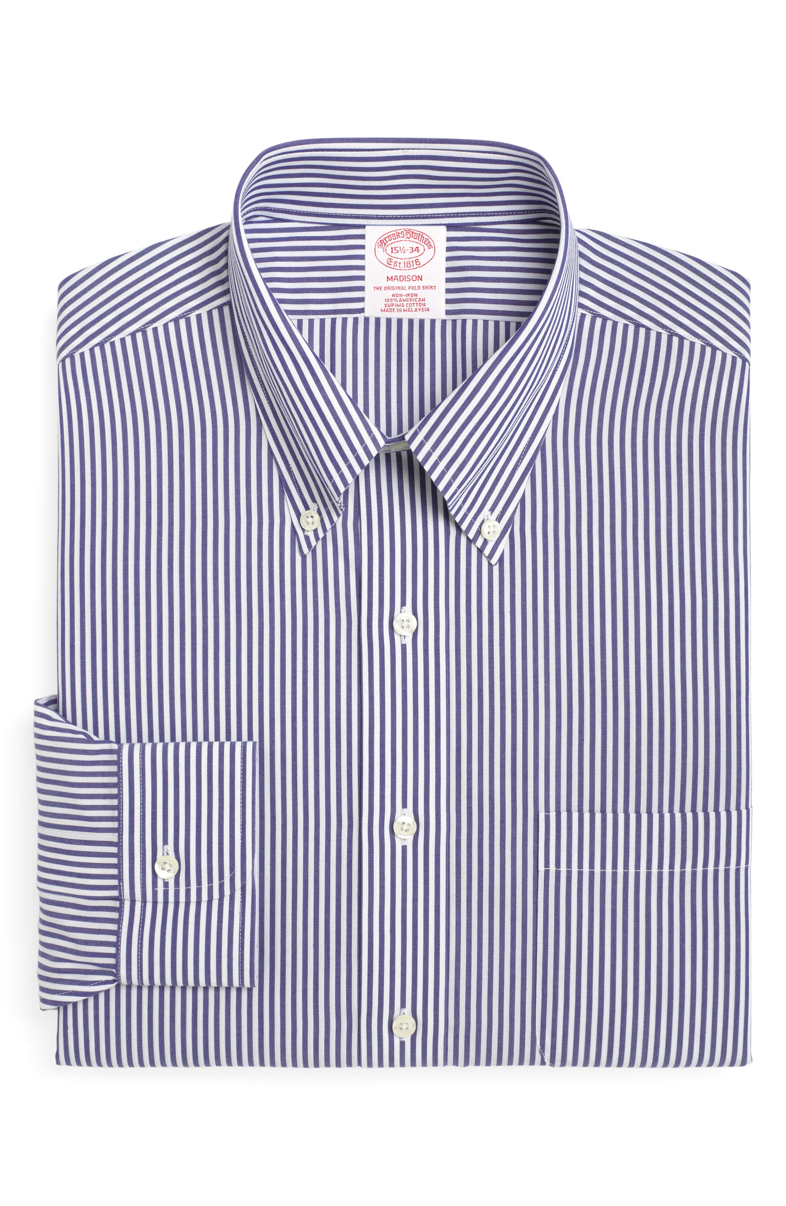 Brooks Brothers Classic Fit Stripe Dress Shirt (3 For $207)