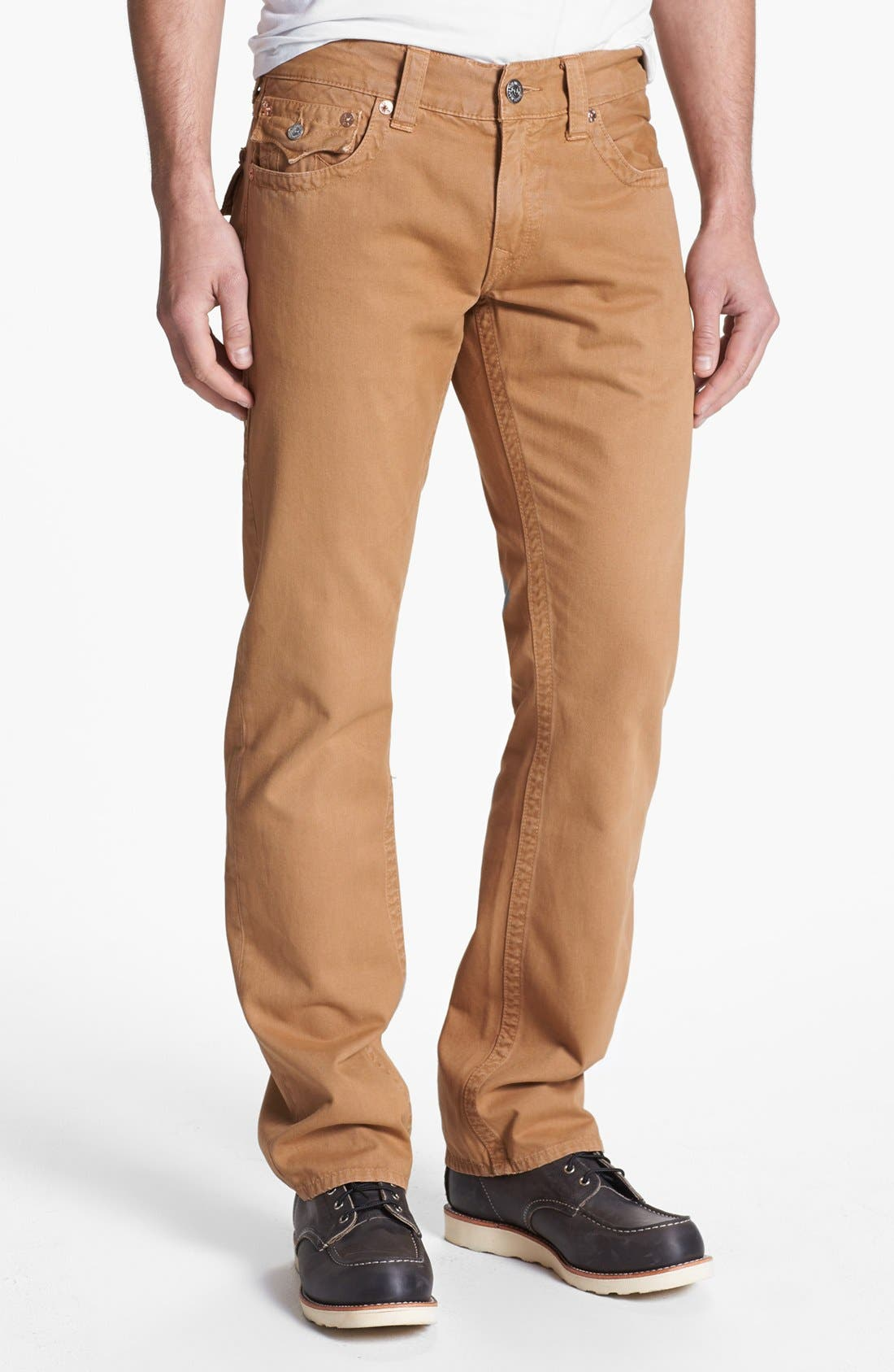 'Ricky' Straight Leg Cotton Twill Pants,                             Alternate thumbnail 19, color,