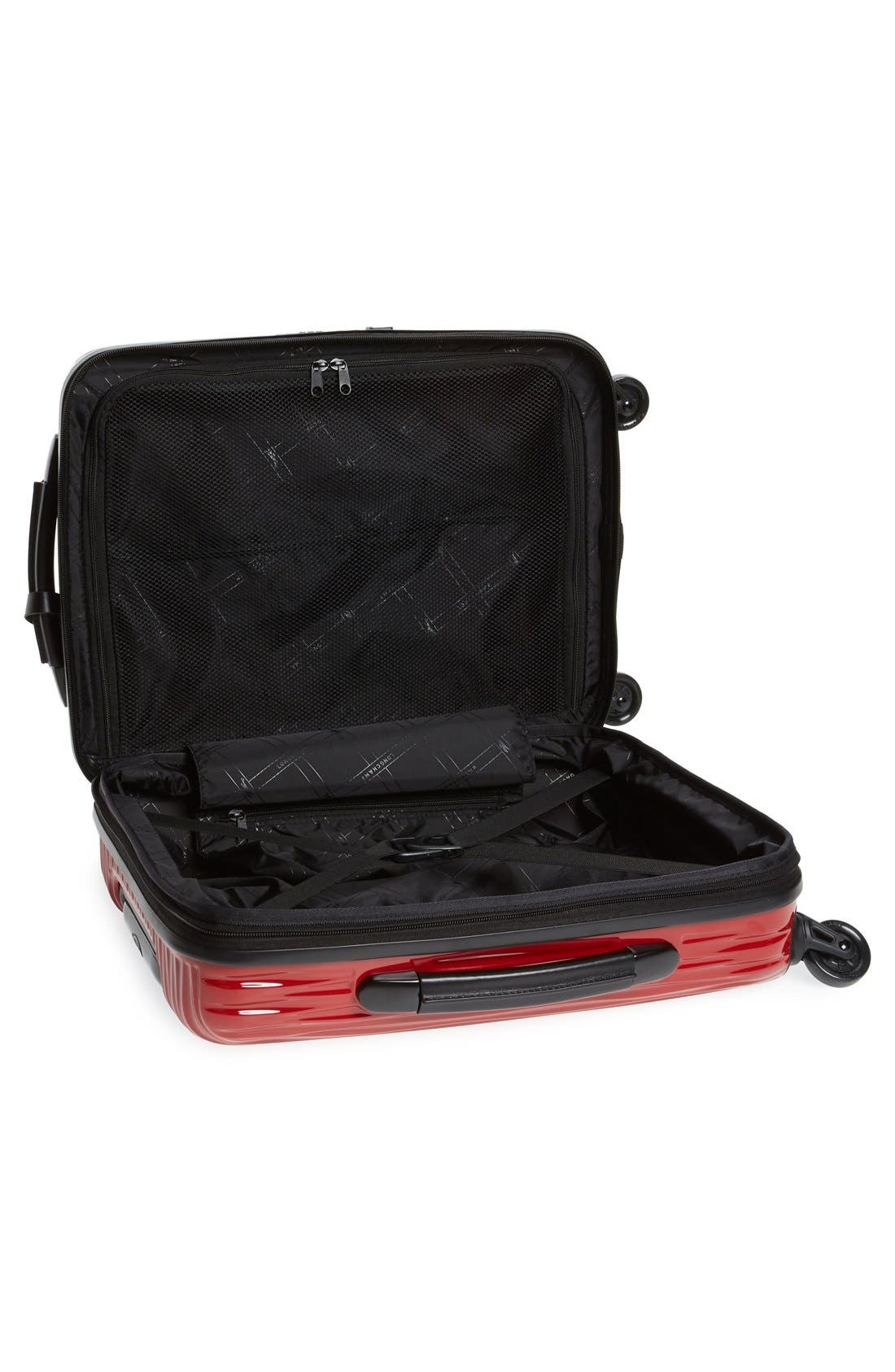 'Fairval' Four-Wheeled Hard Shell Suitcase,                             Alternate thumbnail 4, color,
