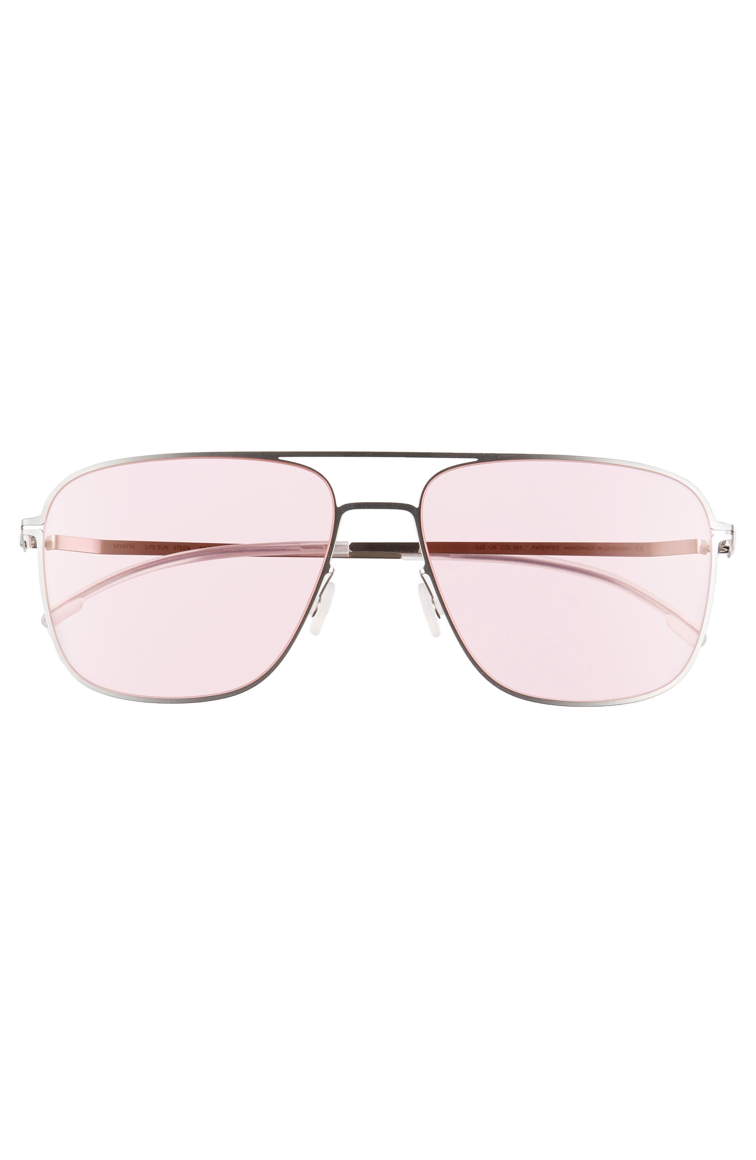 Steen 56mm Aviator Sunglasses,                             Alternate thumbnail 2, color,