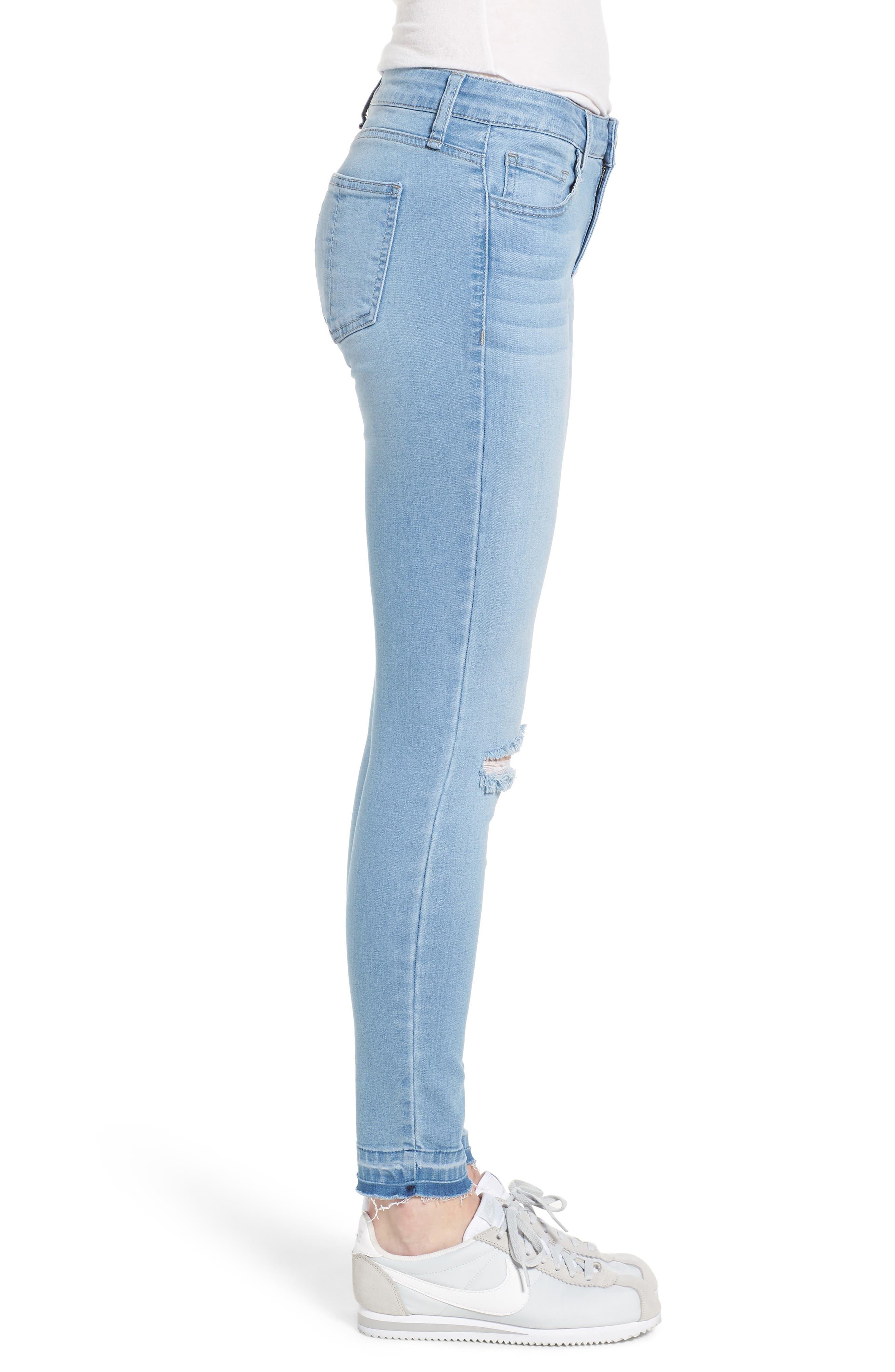 Release Hem Skinny Jeans,                             Alternate thumbnail 3, color,                             432