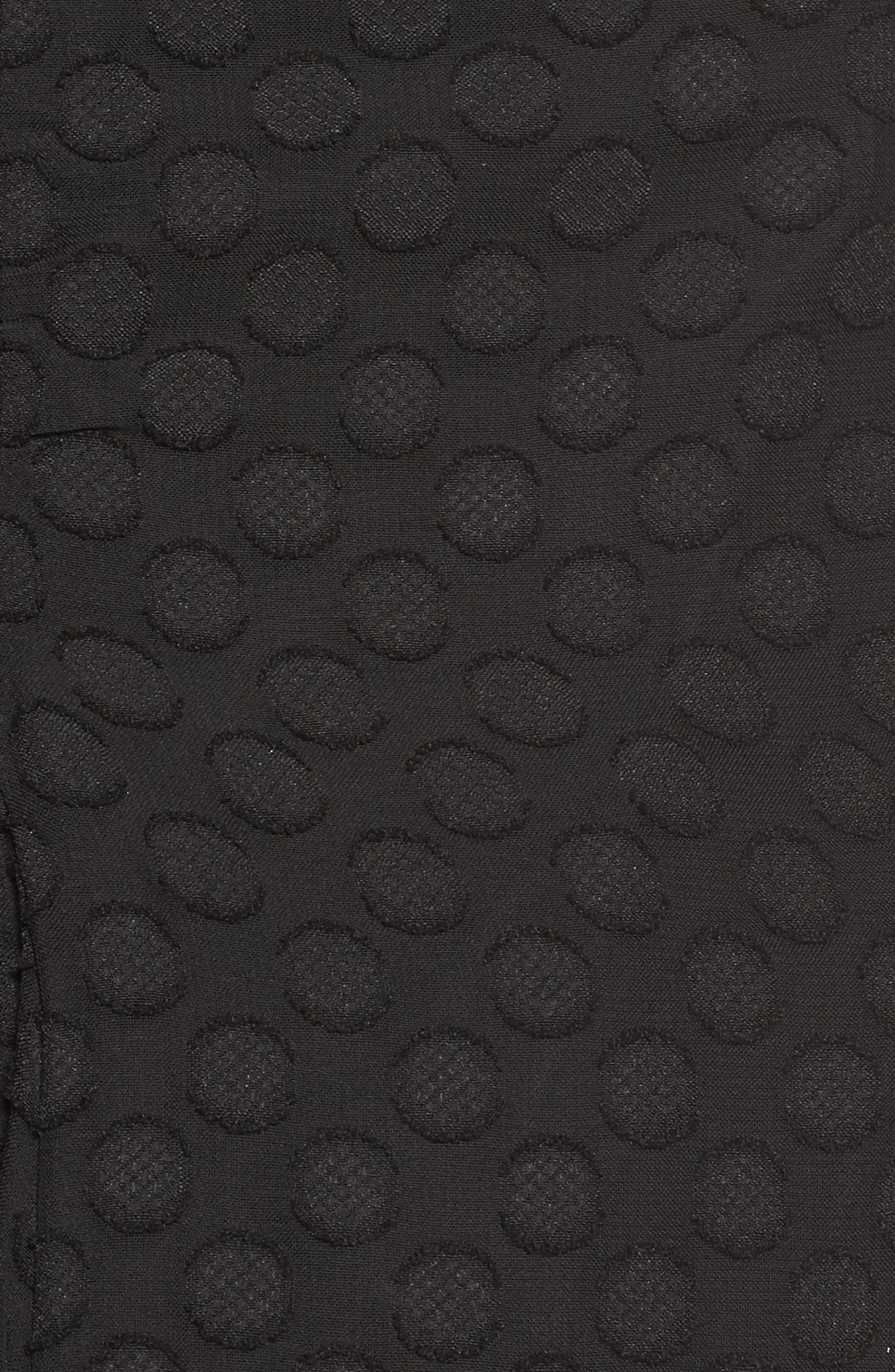 Señorita One-Shoulder Dot Chiffon Dress,                             Alternate thumbnail 5, color,                             001