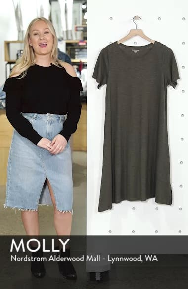 Asymmetrical Hemp Blend Shift Dress, sales video thumbnail