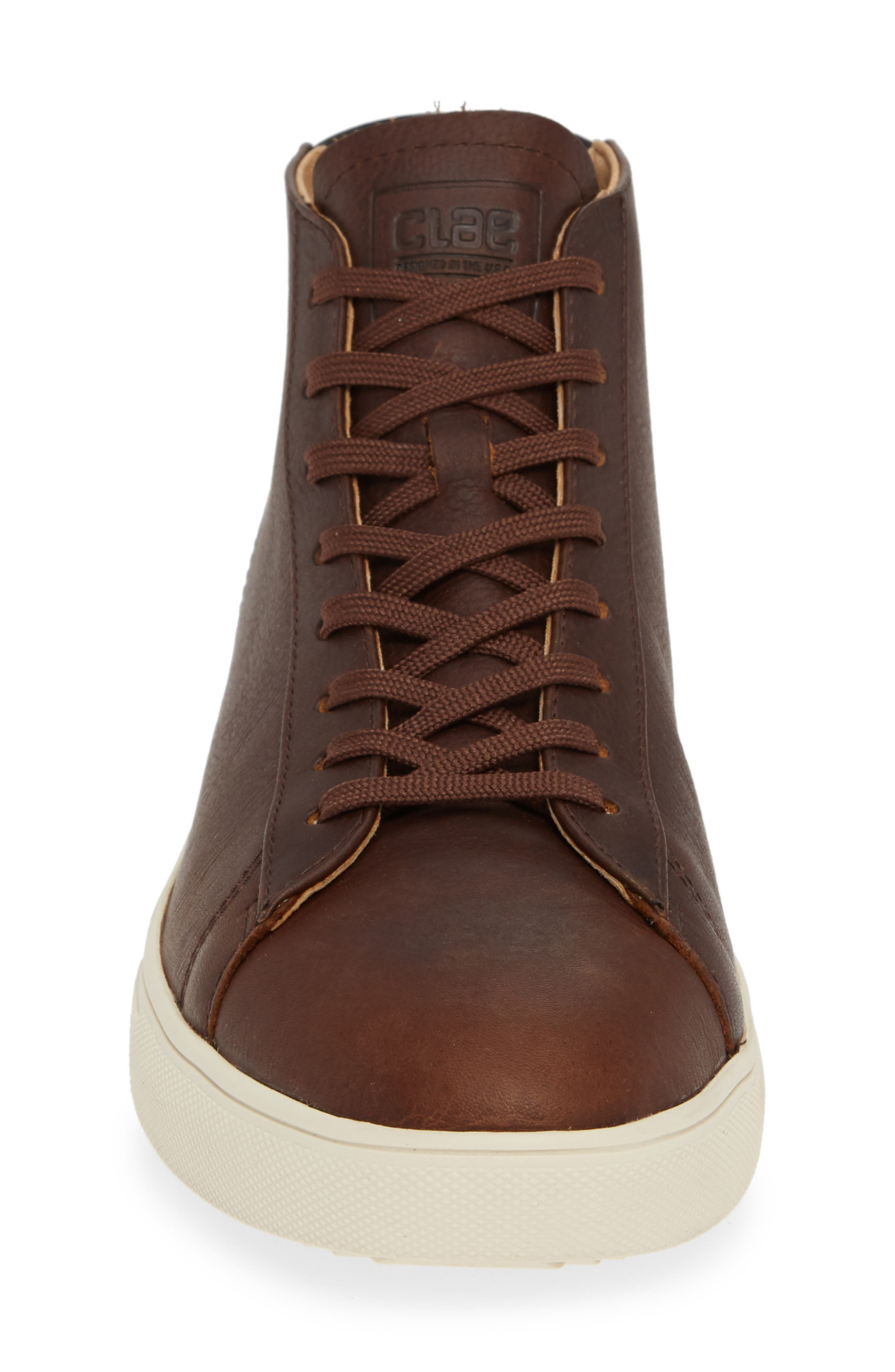 'Bradley Mid' Sneaker,                             Alternate thumbnail 4, color,                             COCOA LEATHER