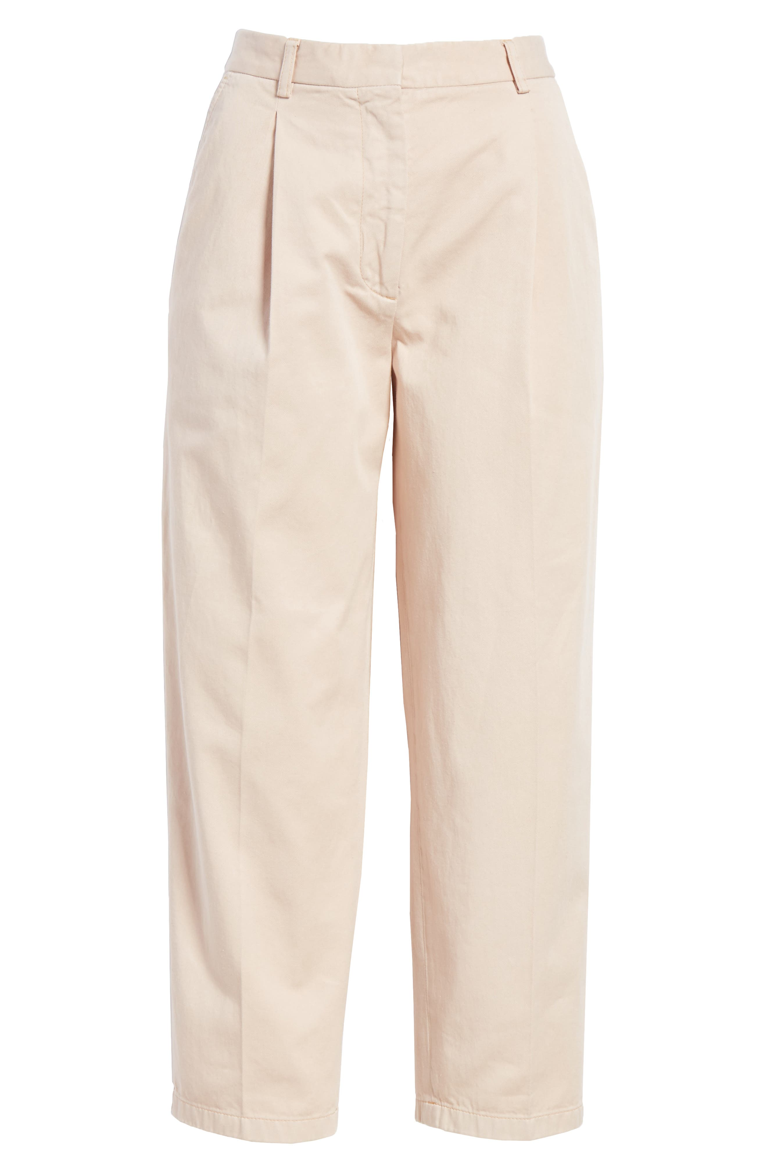 Tabea Crop Chinos,                             Alternate thumbnail 6, color,                             650