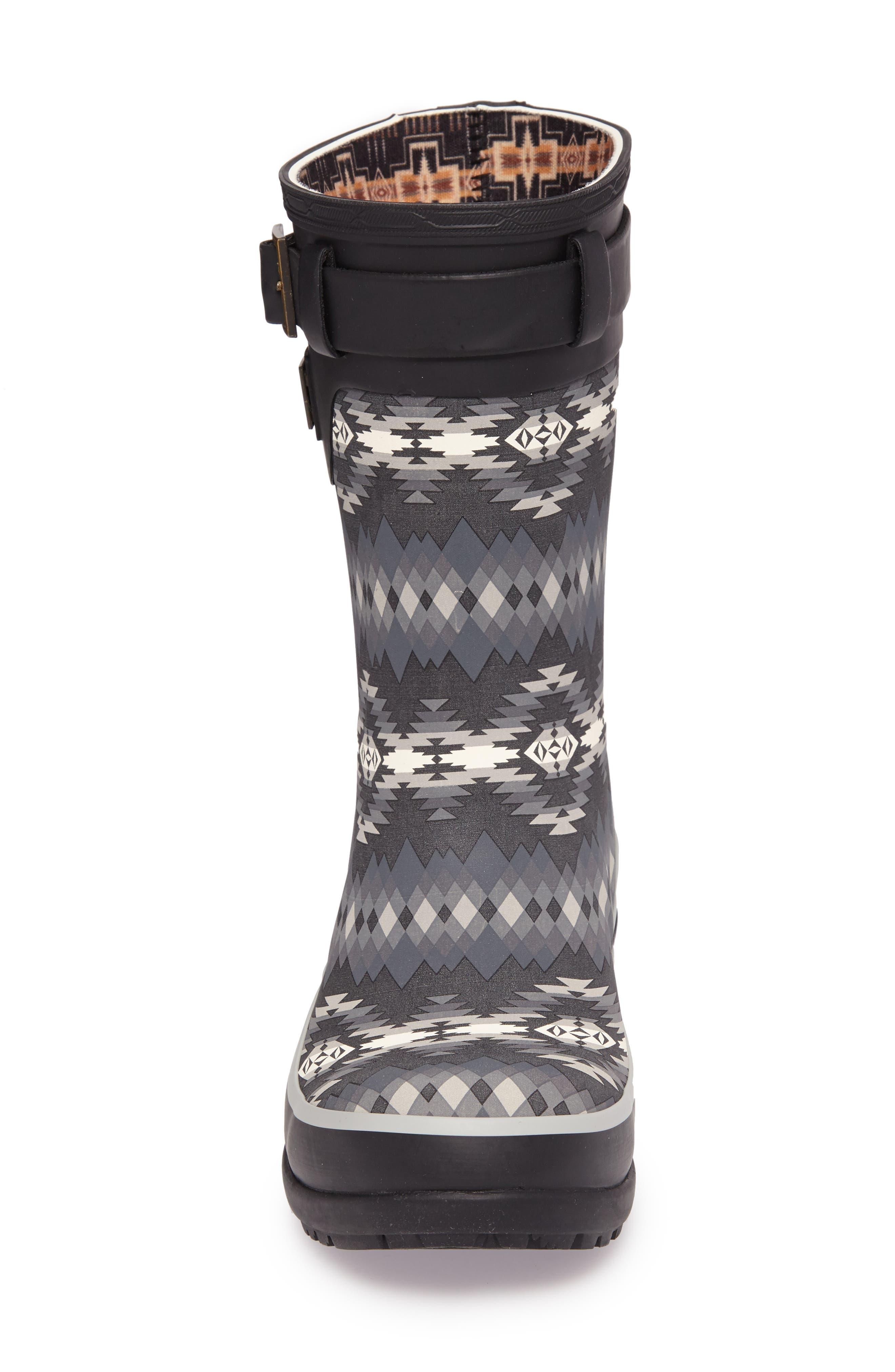 Pendleton Papago Park Short Rain Boot,                             Alternate thumbnail 4, color,                             BLACK