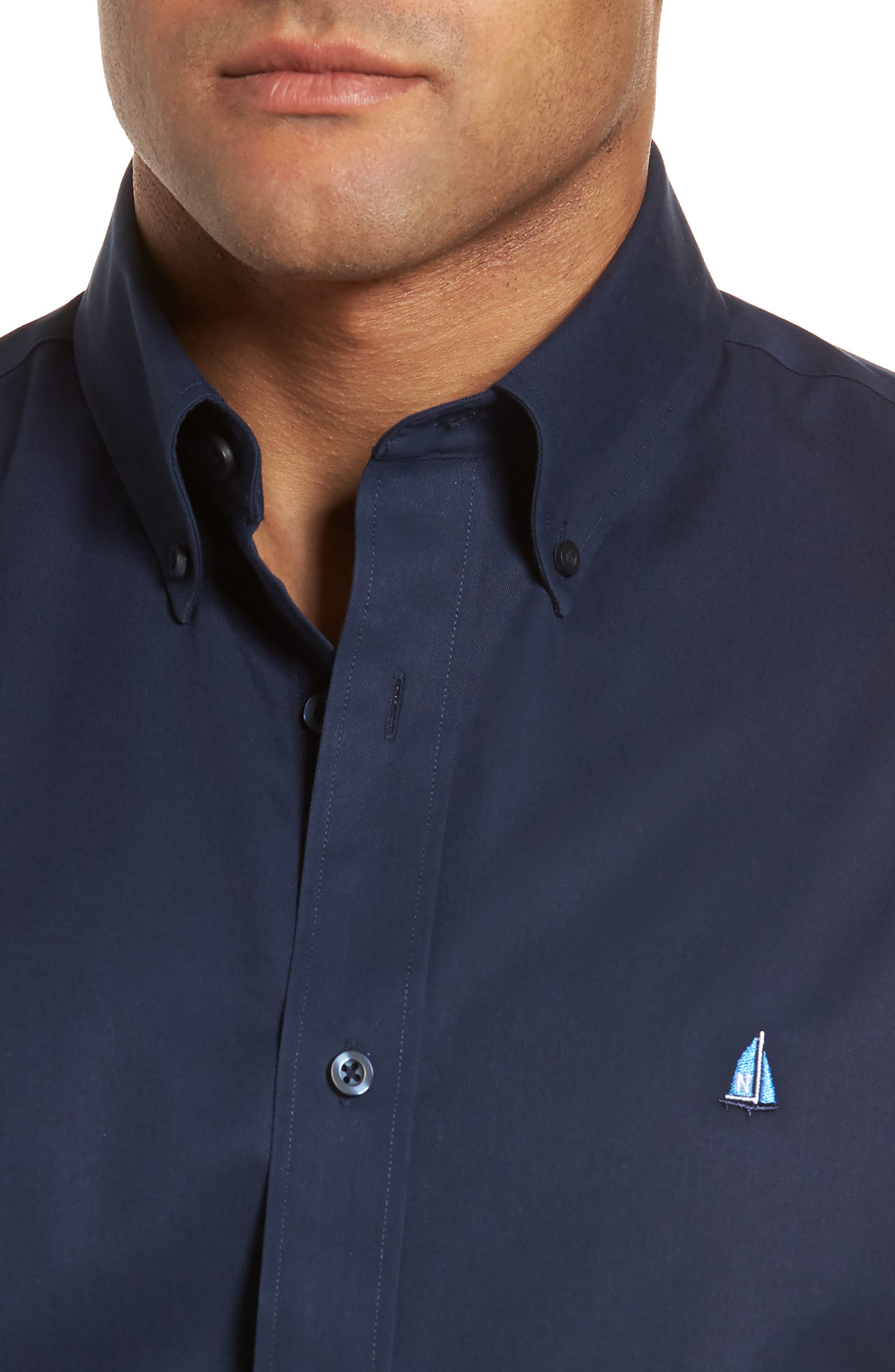 Smartcare<sup>™</sup> Traditional Fit Twill Boat Shirt,                             Alternate thumbnail 145, color,