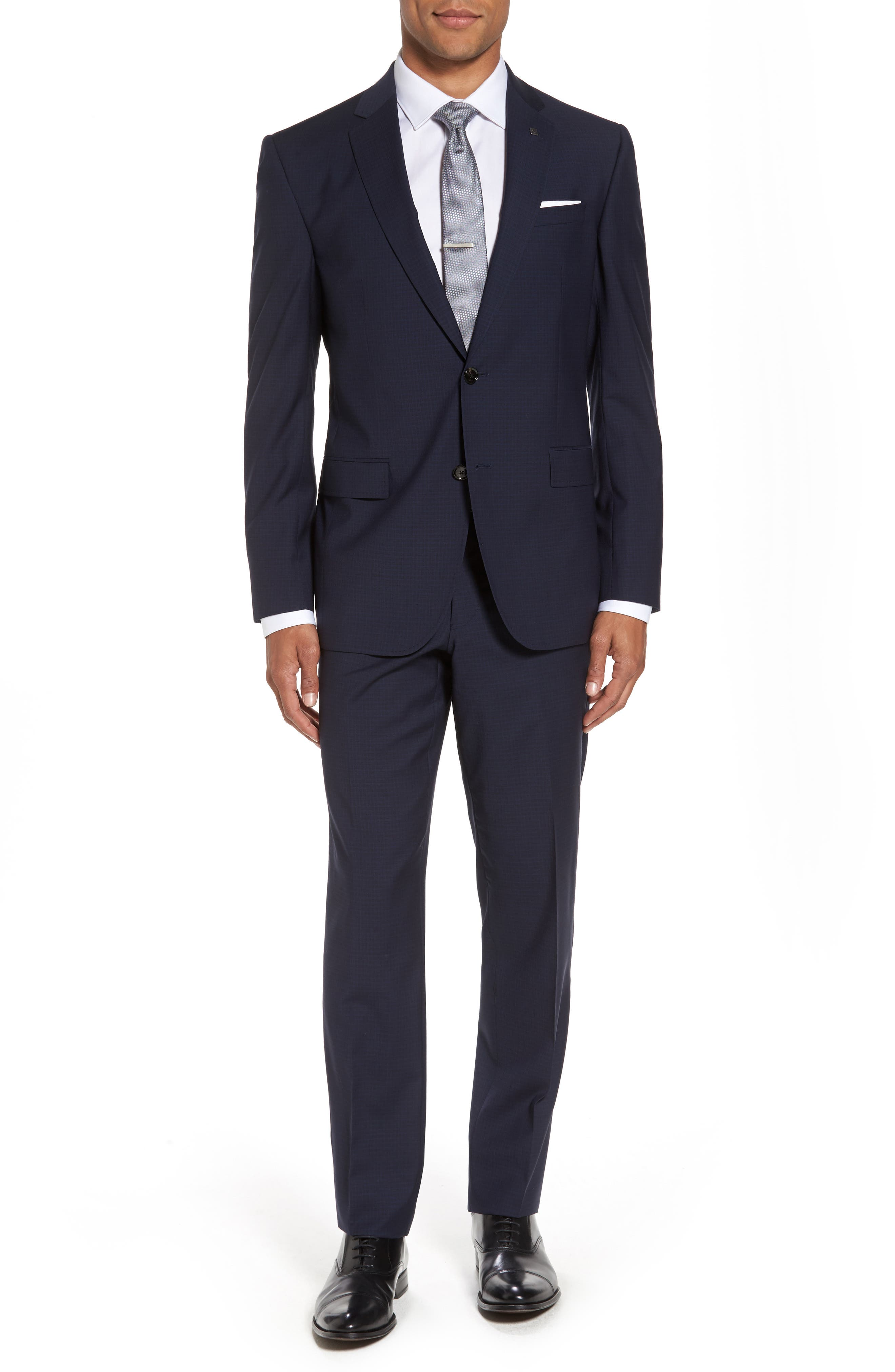 Jay Trim Fit Check Wool Suit,                         Main,                         color, 410