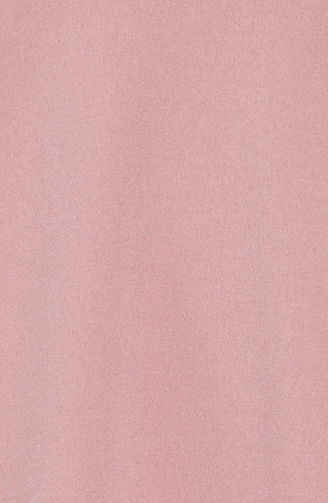Mesh Cutout Fit & Flare Dress,                             Alternate thumbnail 3, color,                             ROSE