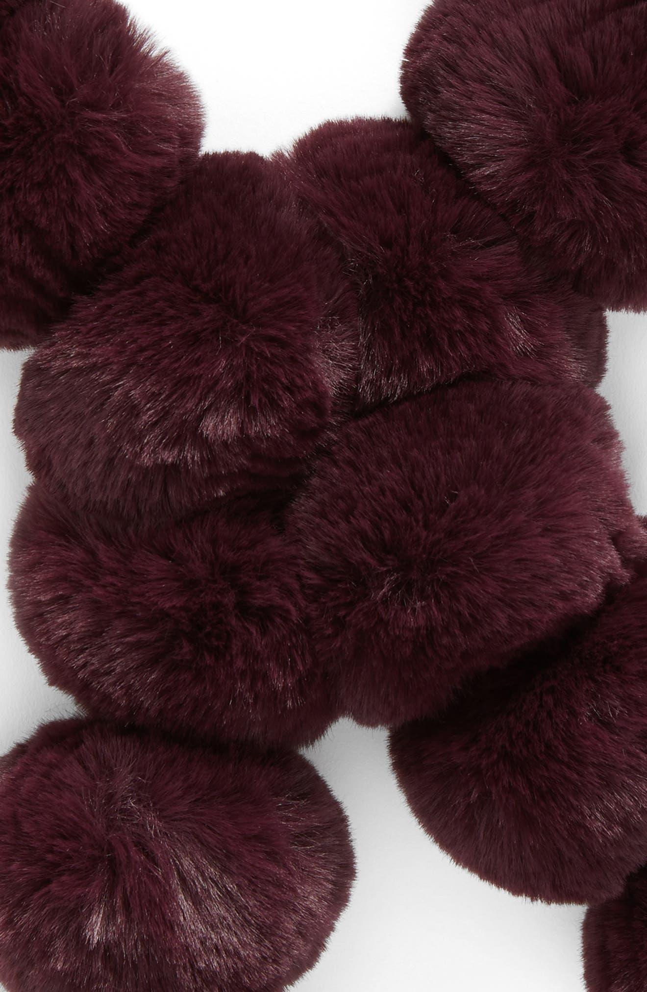 Faux Fur Pom Scarf,                             Alternate thumbnail 12, color,