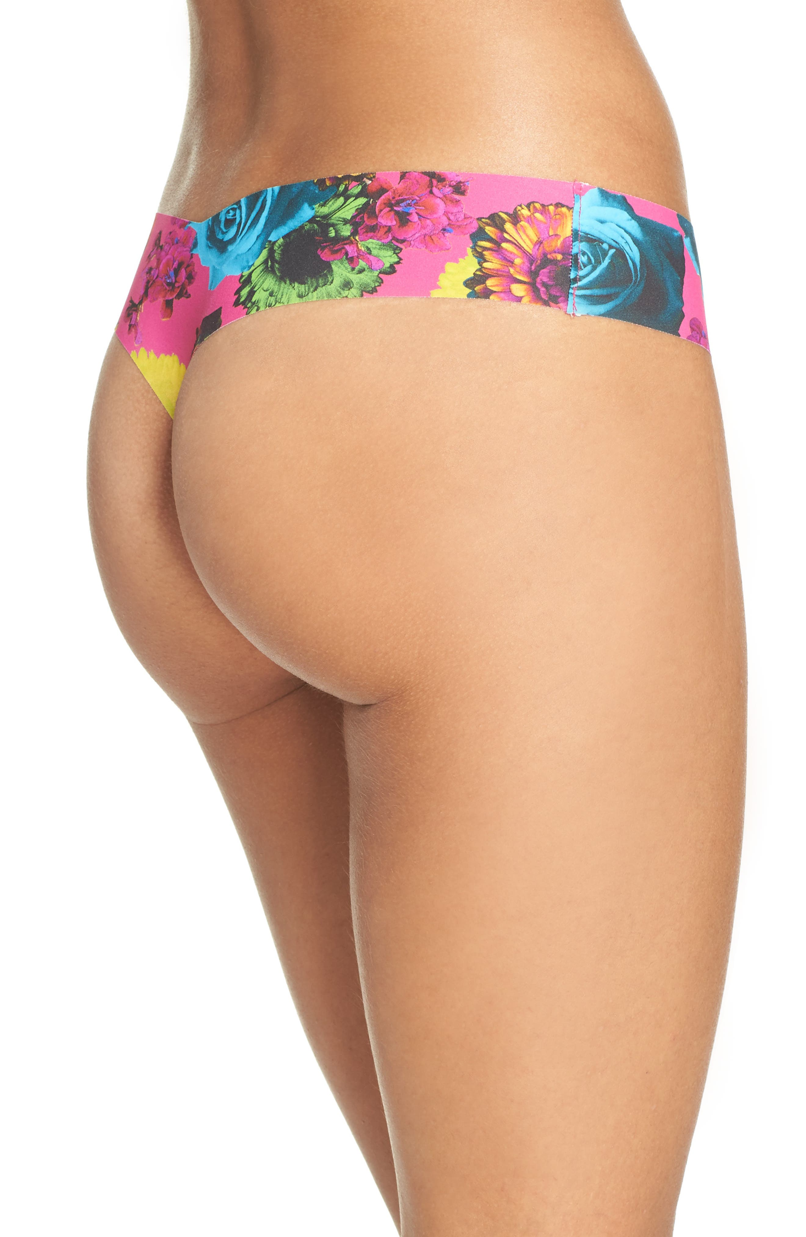 Print Microfiber Thong,                             Alternate thumbnail 246, color,