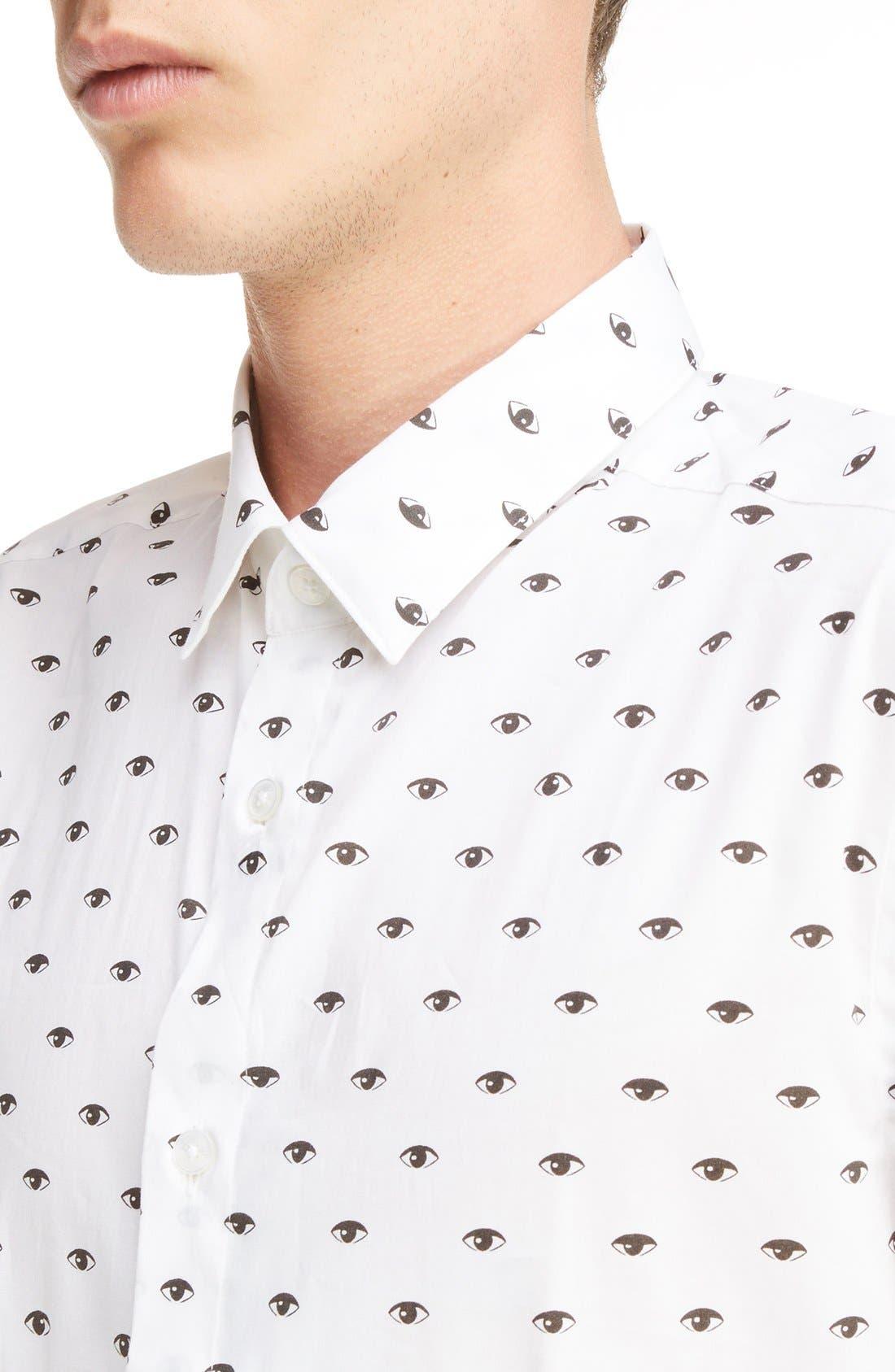 Eye Print Shirt,                             Alternate thumbnail 4, color,                             100