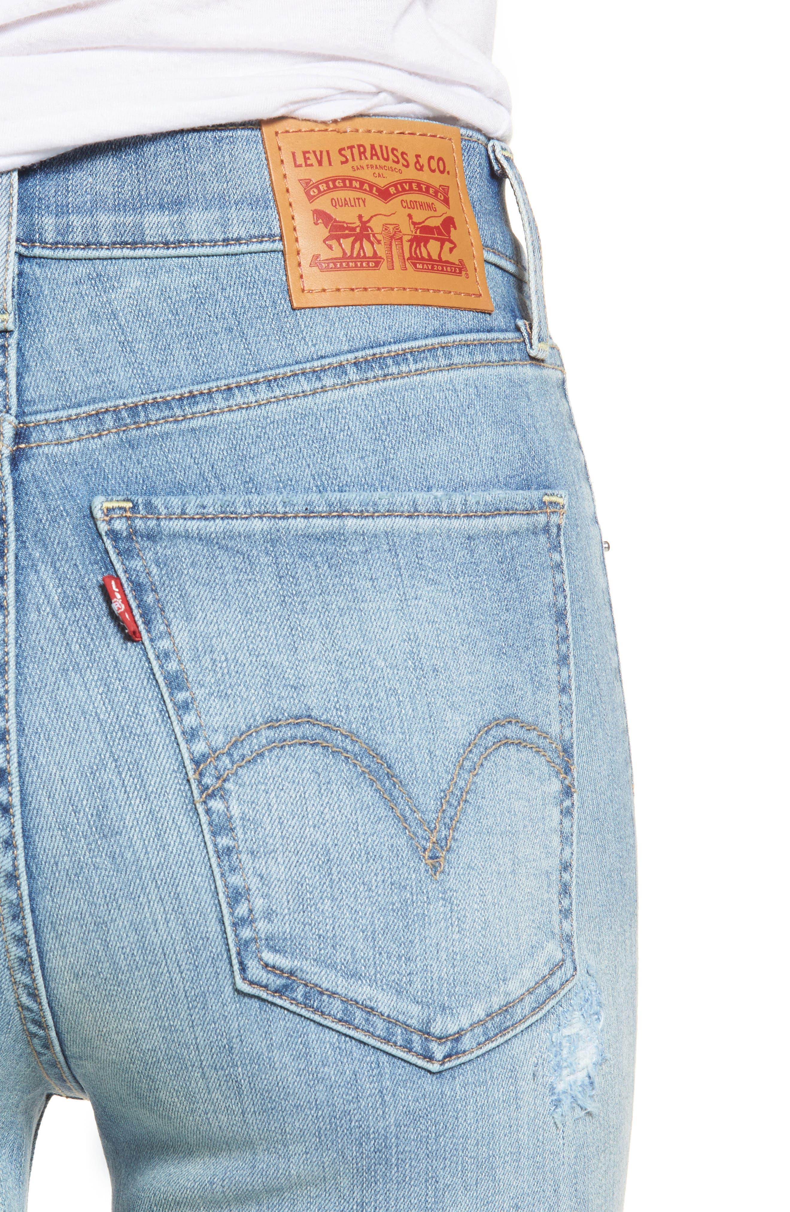 Mile High Super Skinny Jeans,                             Alternate thumbnail 4, color,