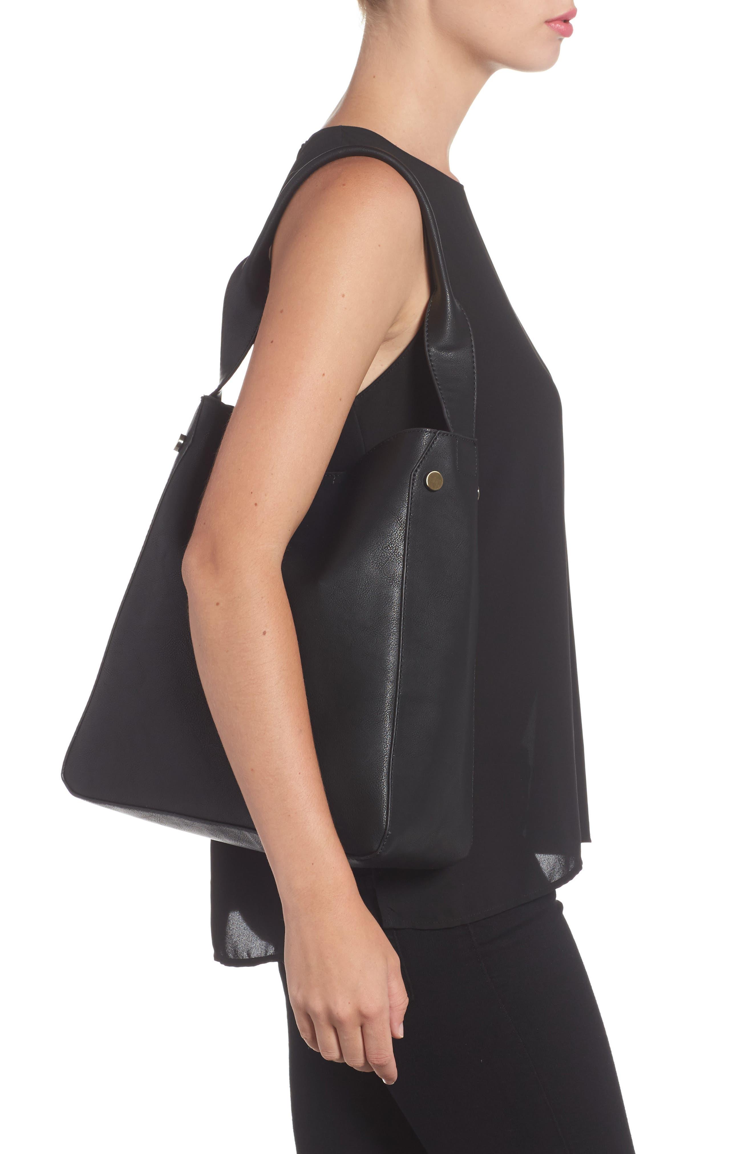 Alani Faux Leather Shoulder Bag,                             Alternate thumbnail 3, color,