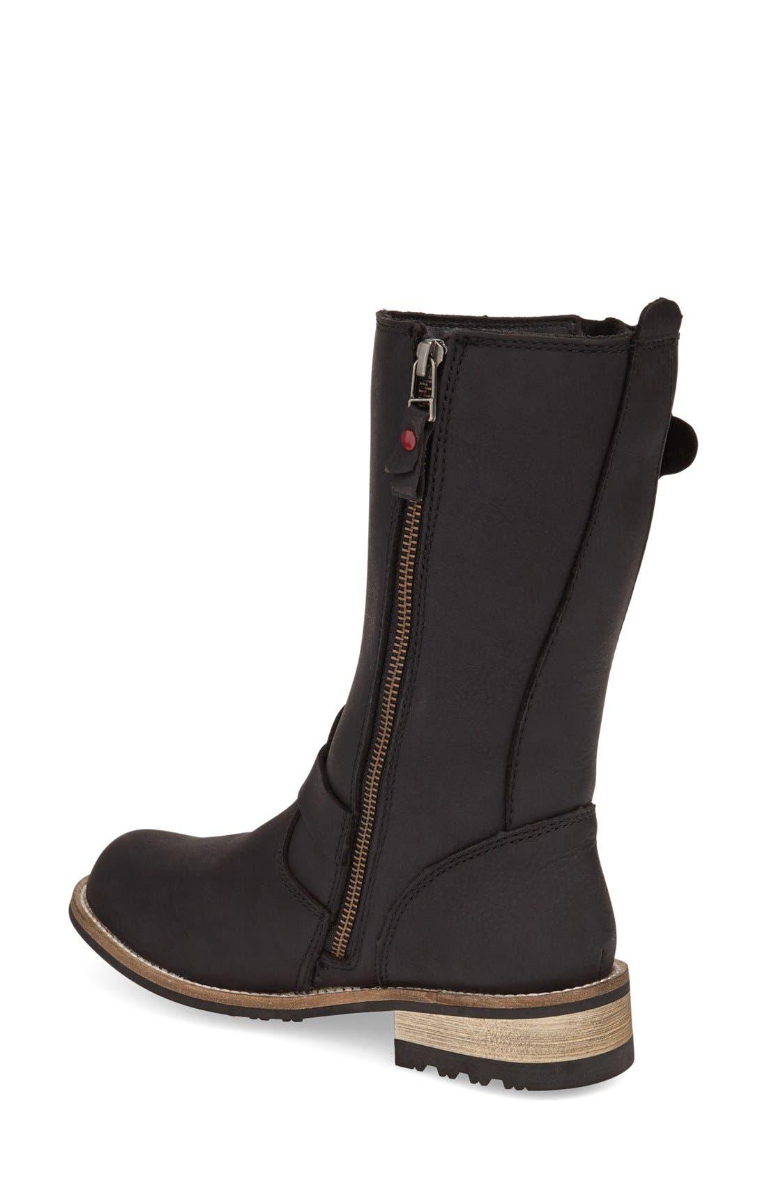 KODIAK,                             'Alcona' Waterproof Boot,                             Alternate thumbnail 2, color,                             BLACK LEATHER