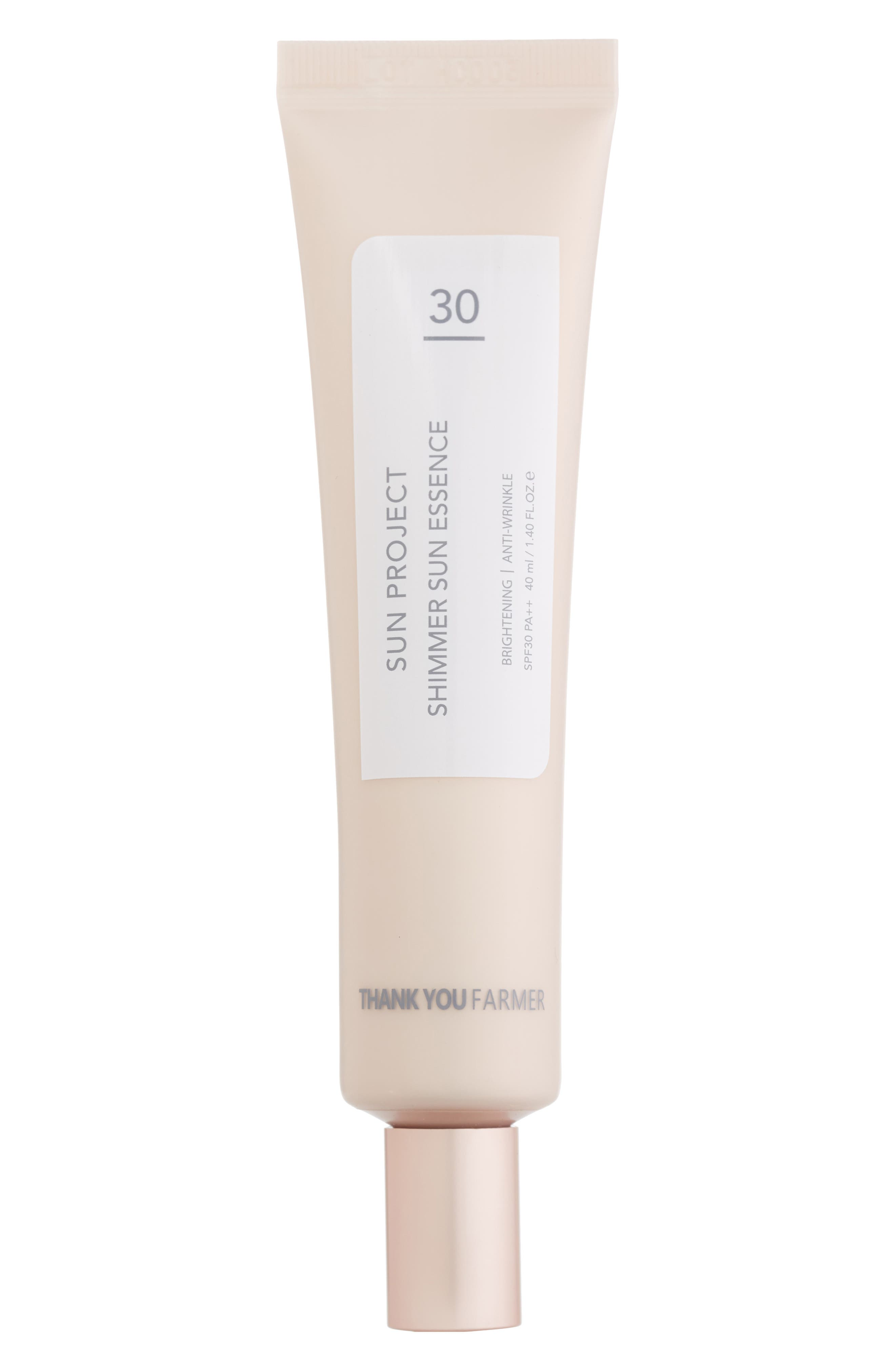 THANK YOU FARMER Sun Project Shimmer Sun Essence Spf 30 Pa++ in Pink