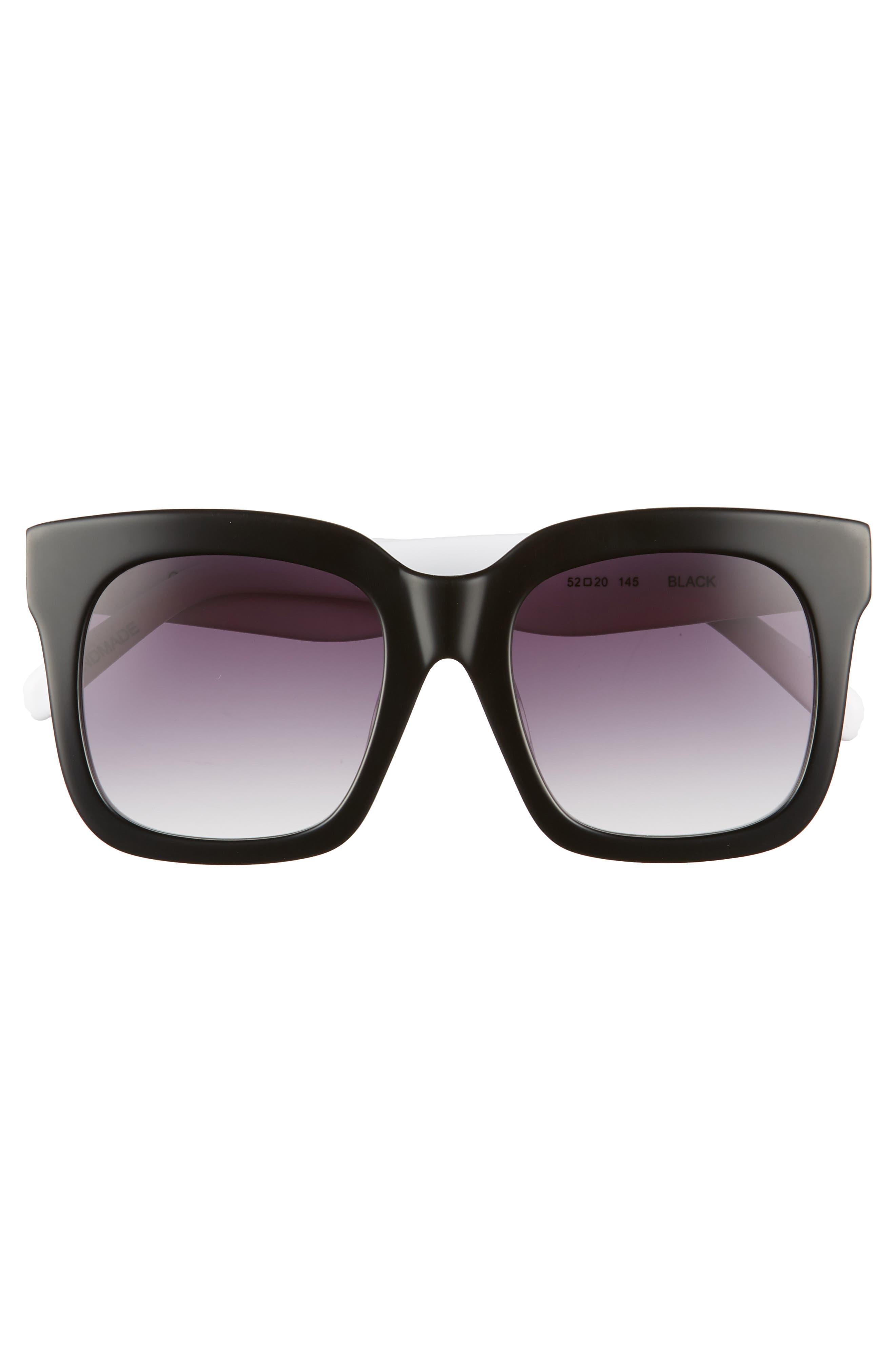 Coco 52mm Sunglasses,                             Alternate thumbnail 3, color,                             BLACK
