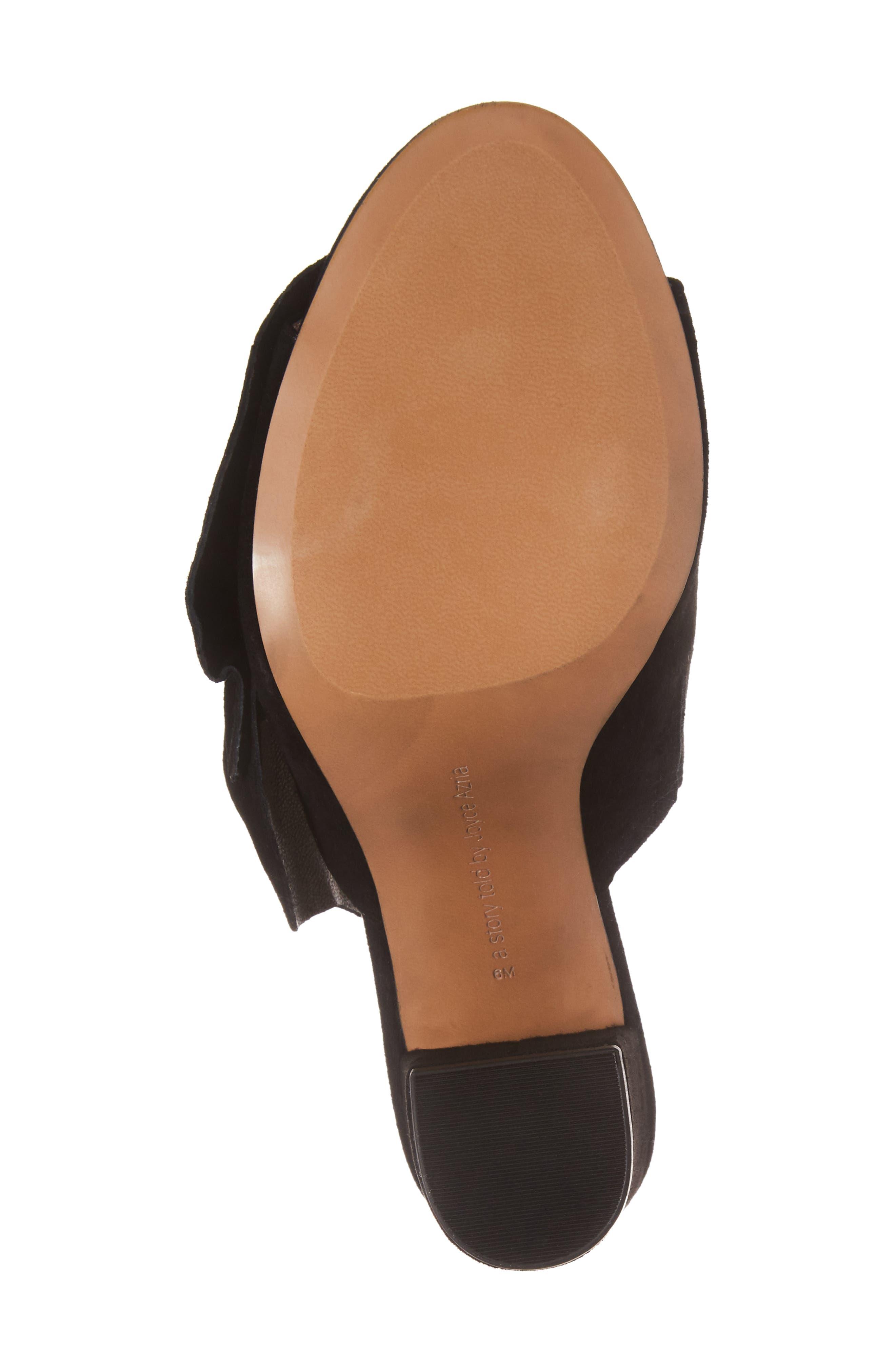 Marie Bow Slide Sandal,                             Alternate thumbnail 6, color,                             002