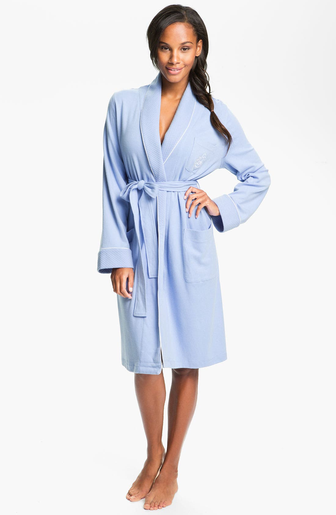 Quilted Collar Robe,                             Main thumbnail 10, color,